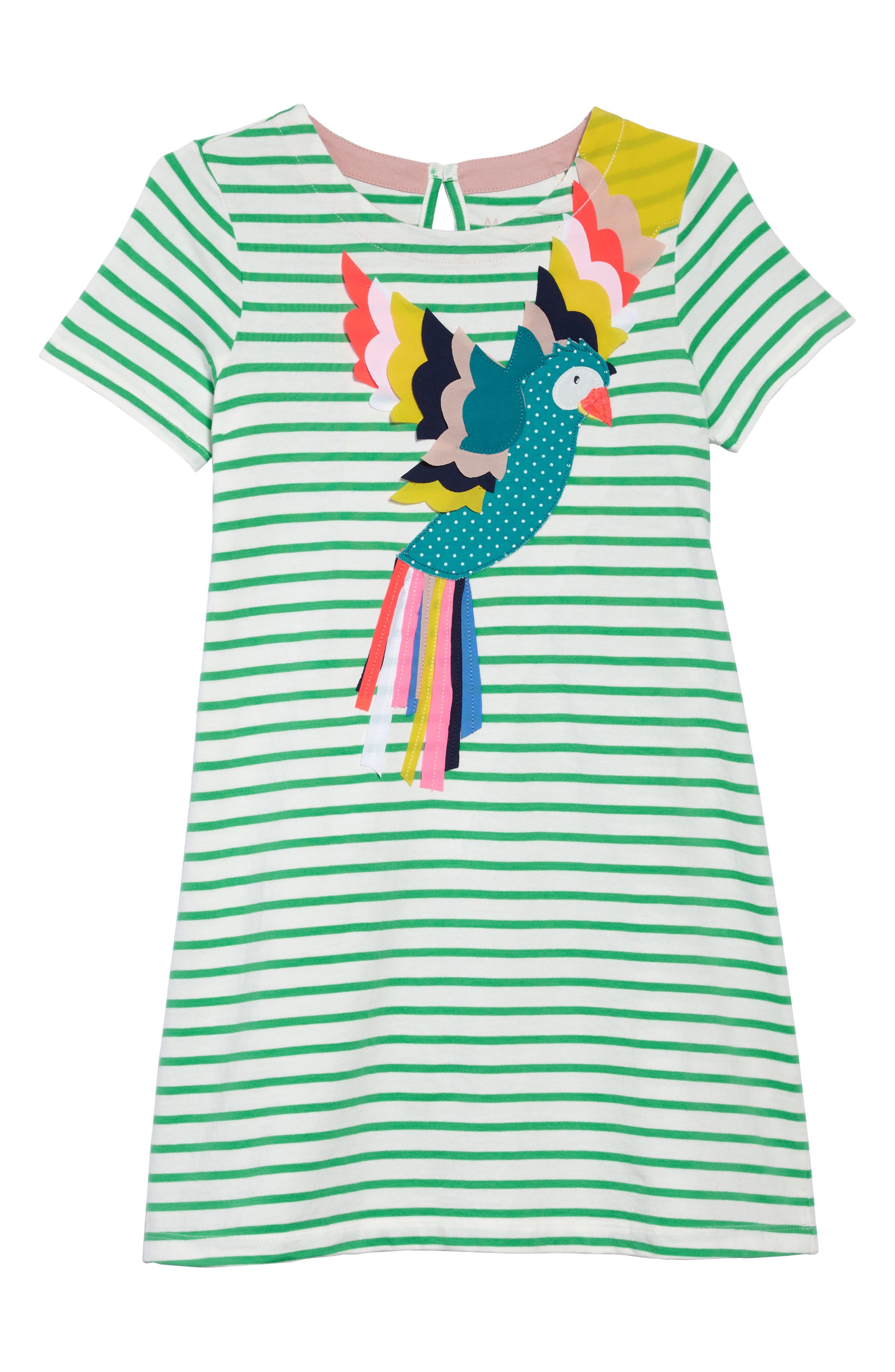 Mini Boden Summer Appliqué T-Shirt Dress (Toddler Girls, Little Girls & Big Girls)