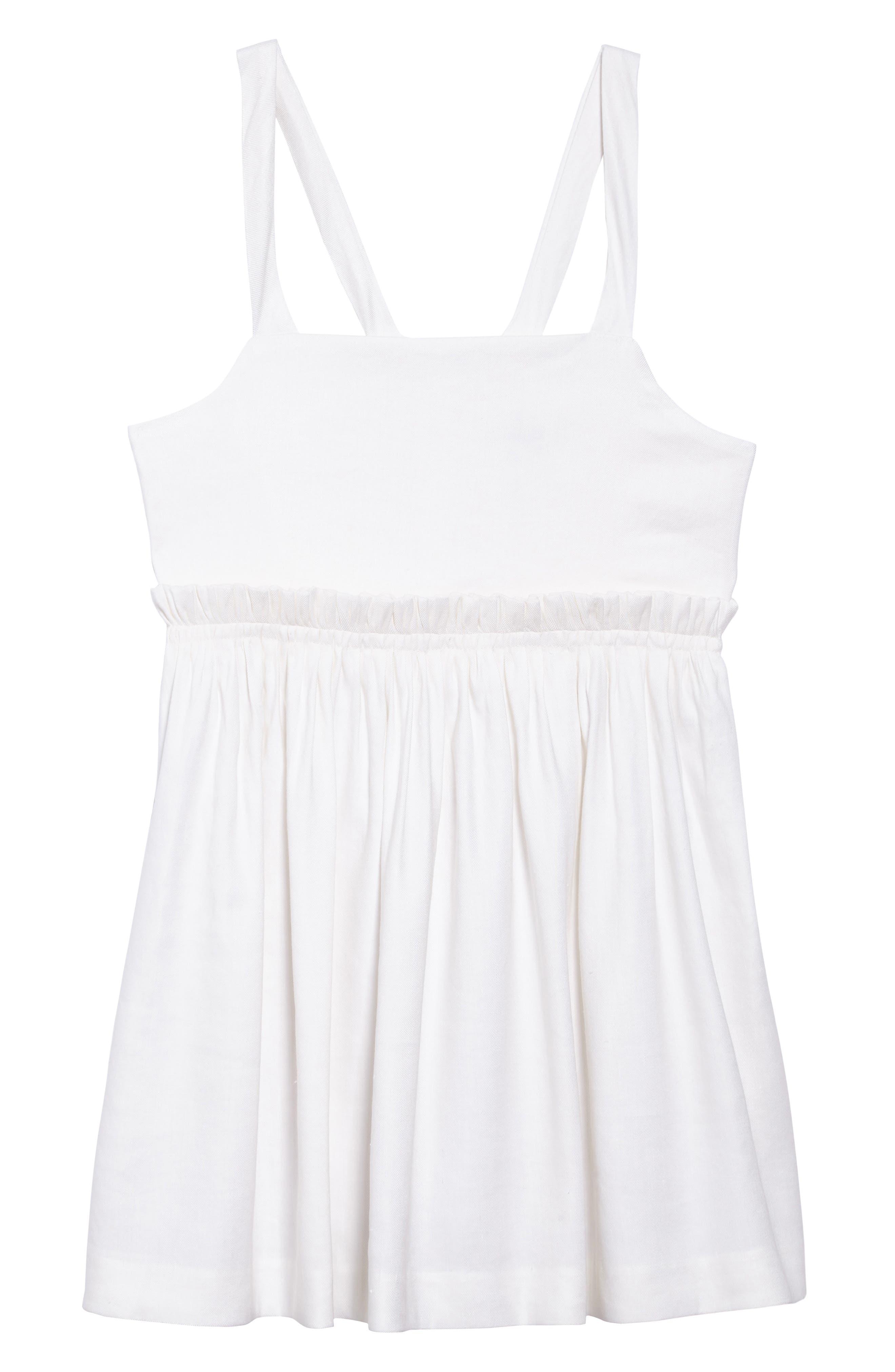Jenny Linen Blend Dress,                             Main thumbnail 1, color,                             White
