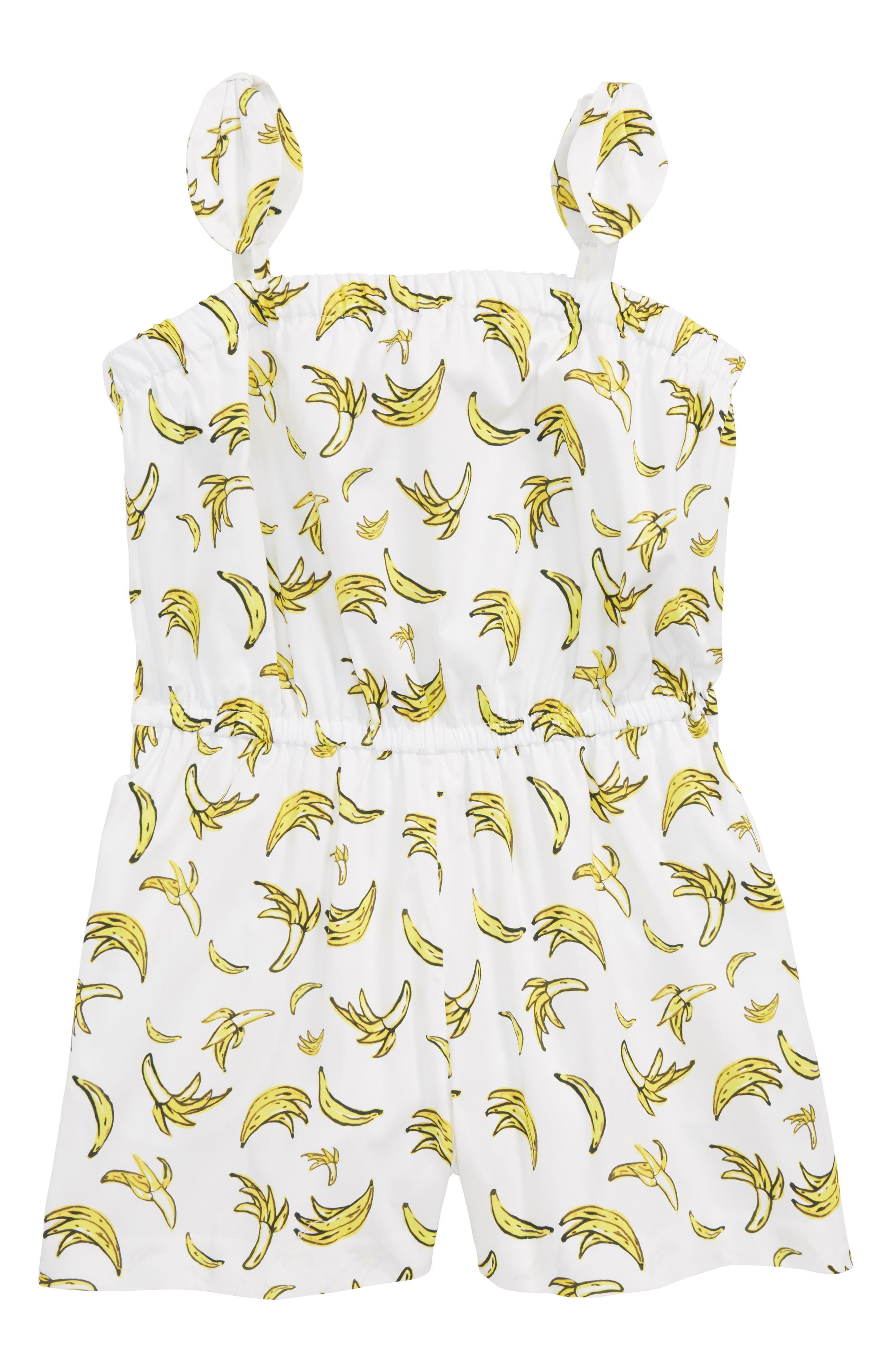 Milly Minis Banana Tie Romper (Big Girls)