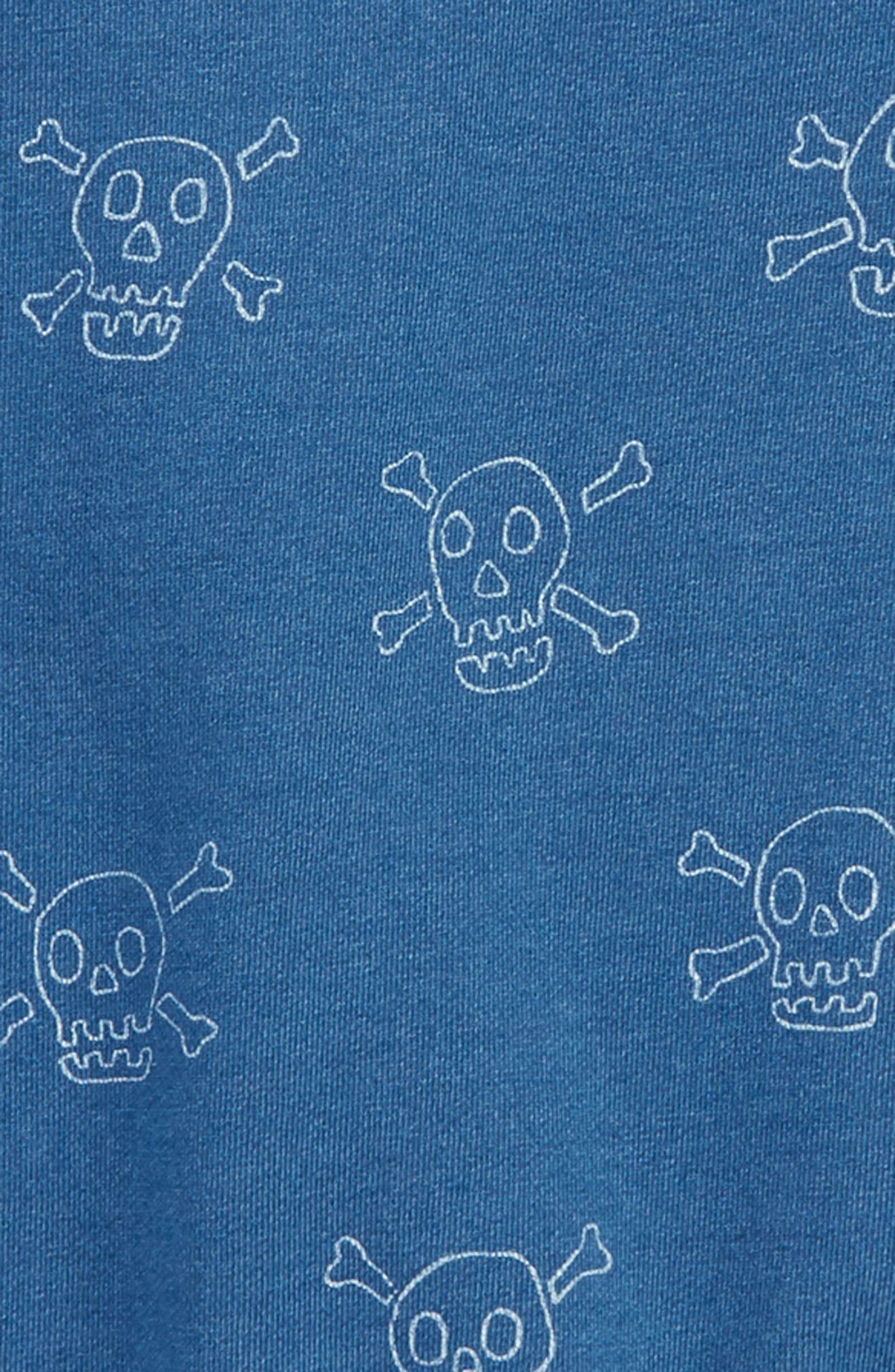 Castaway Skulls Sweatshirt,                             Alternate thumbnail 2, color,                             Mid Indigo Blue Skulls