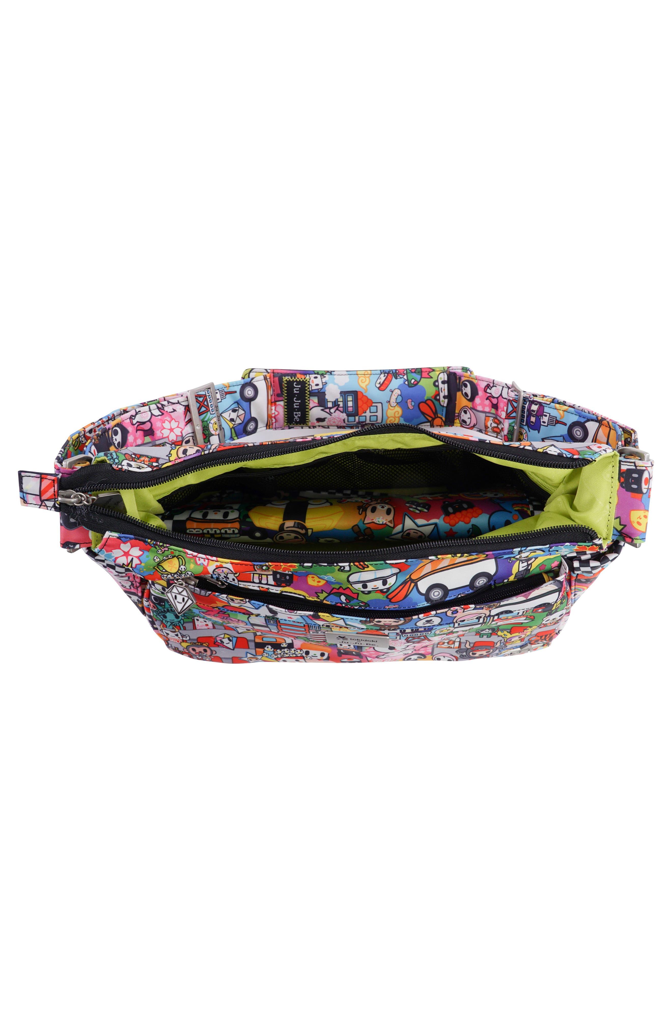 tokidoki x Ju-Ju-Be 'HoboBe' Diaper Bag,                             Alternate thumbnail 4, color,                             Sushi Cars