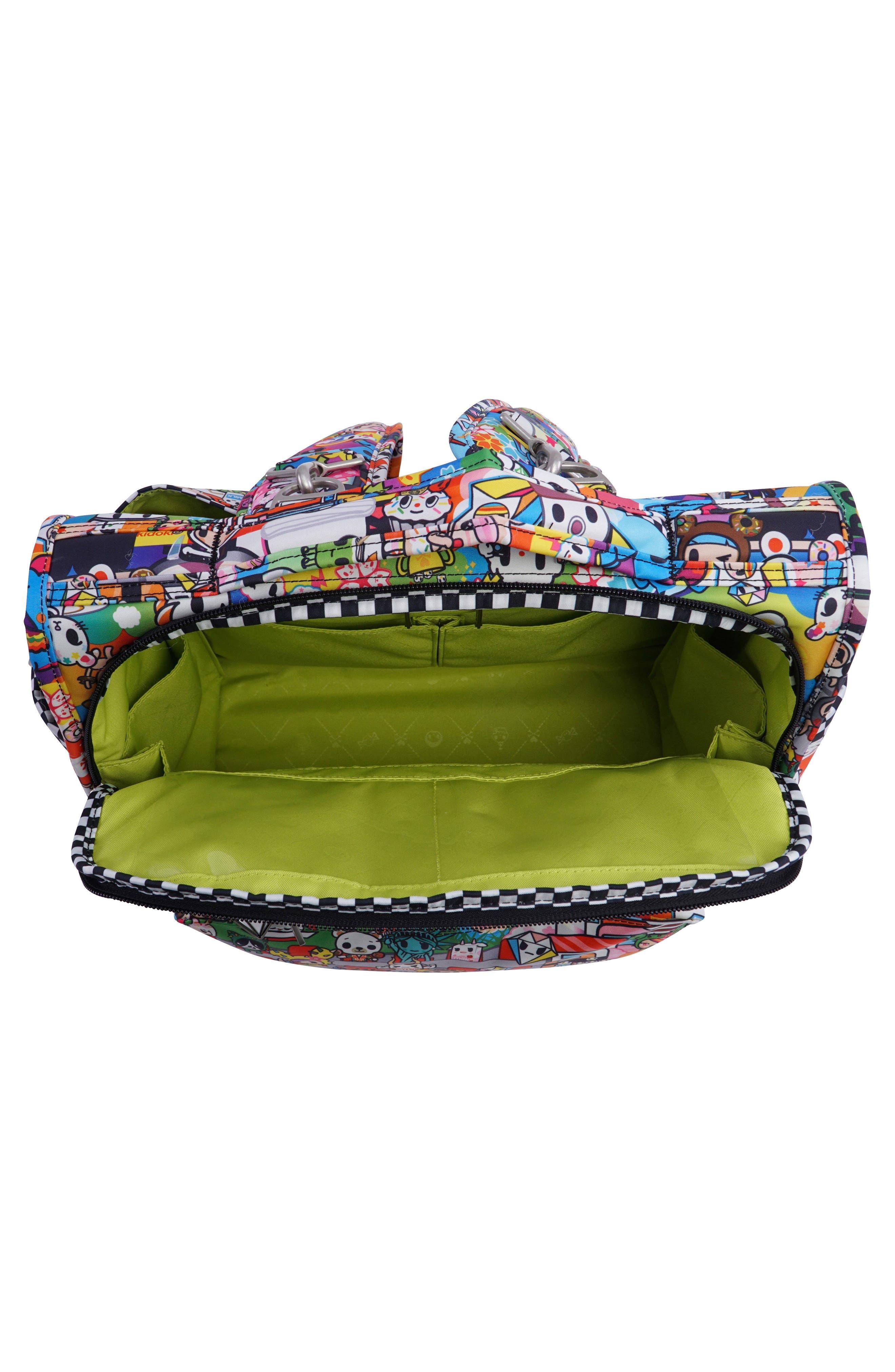 tokidoki x Ju-Ju-Be 'BFF' Diaper Bag,                             Alternate thumbnail 4, color,                             Sushi Cars