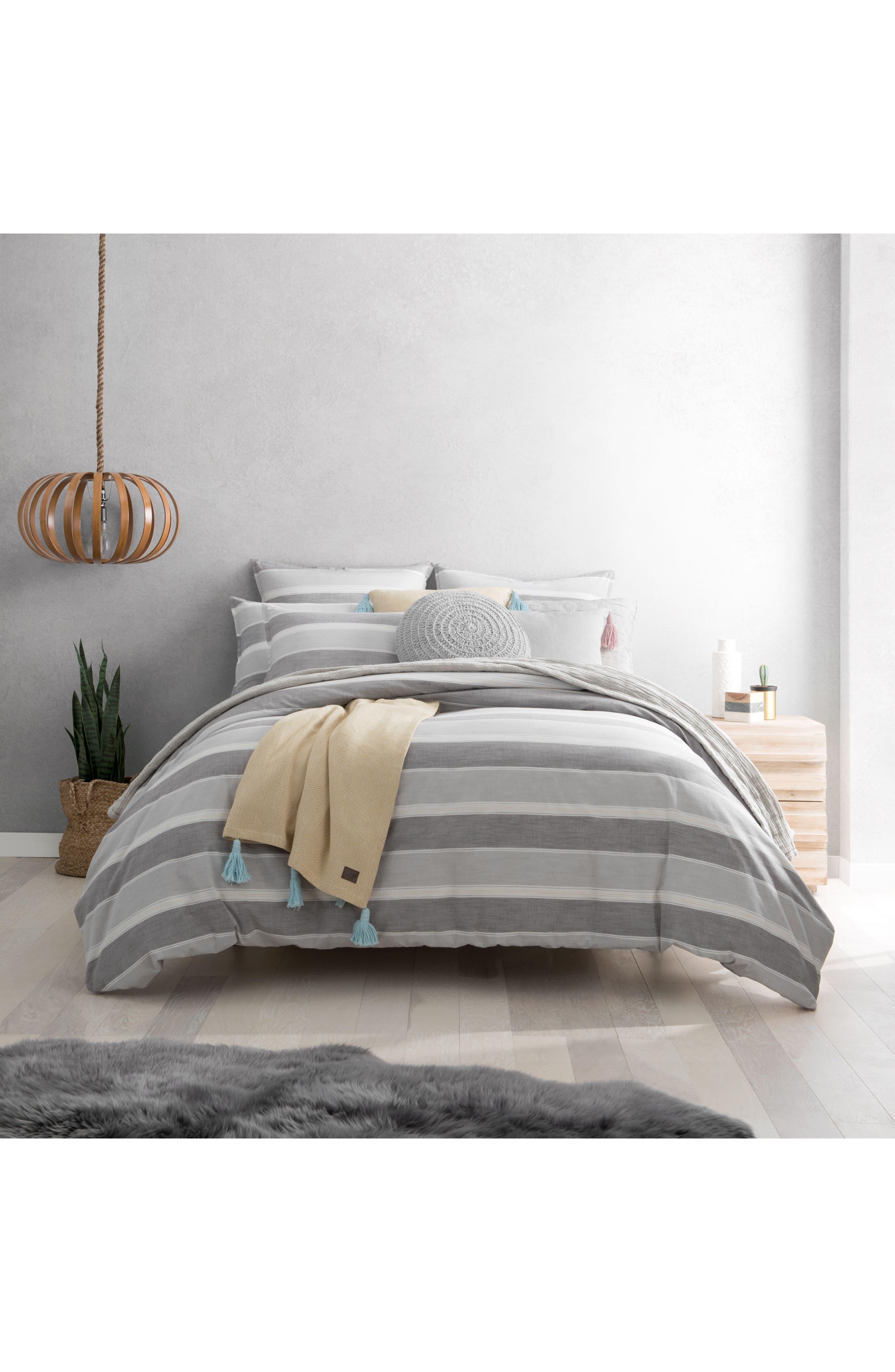 Oxford Stripe Euro Sham,                             Alternate thumbnail 2, color,                             Grey Multi