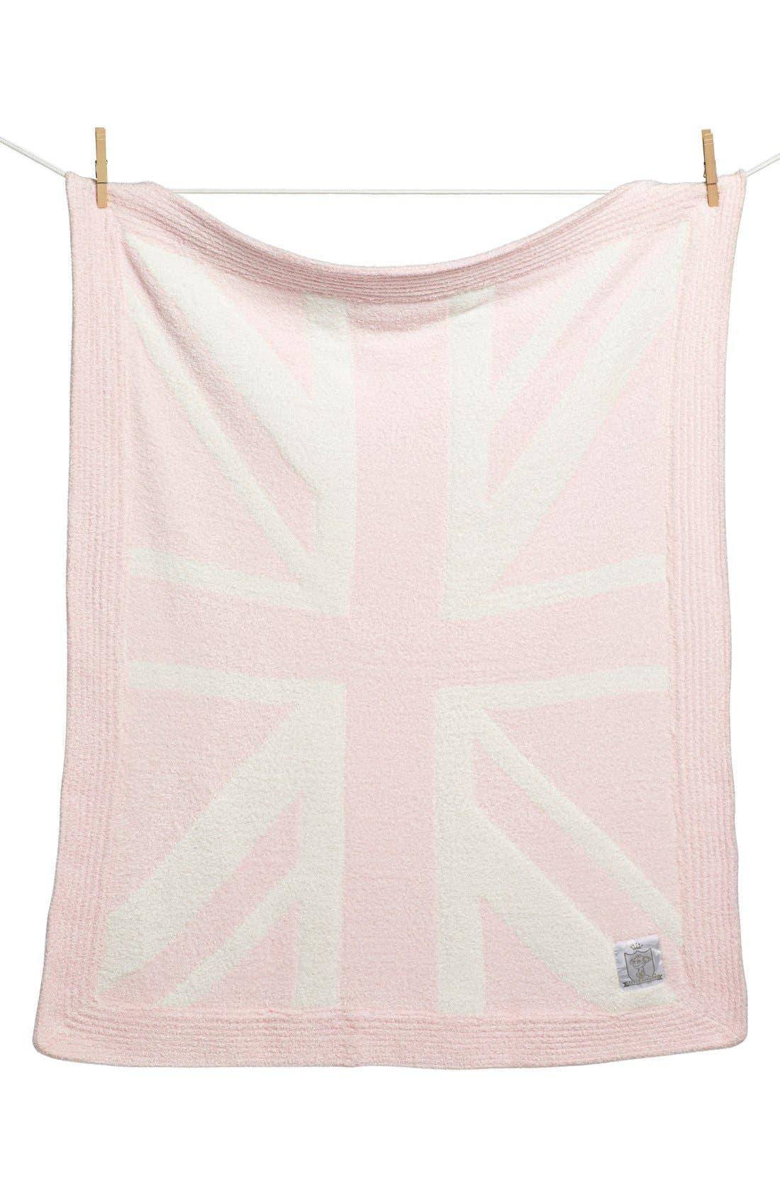 'Dolce Union Jack' Blanket,                         Main,                         color, Pink