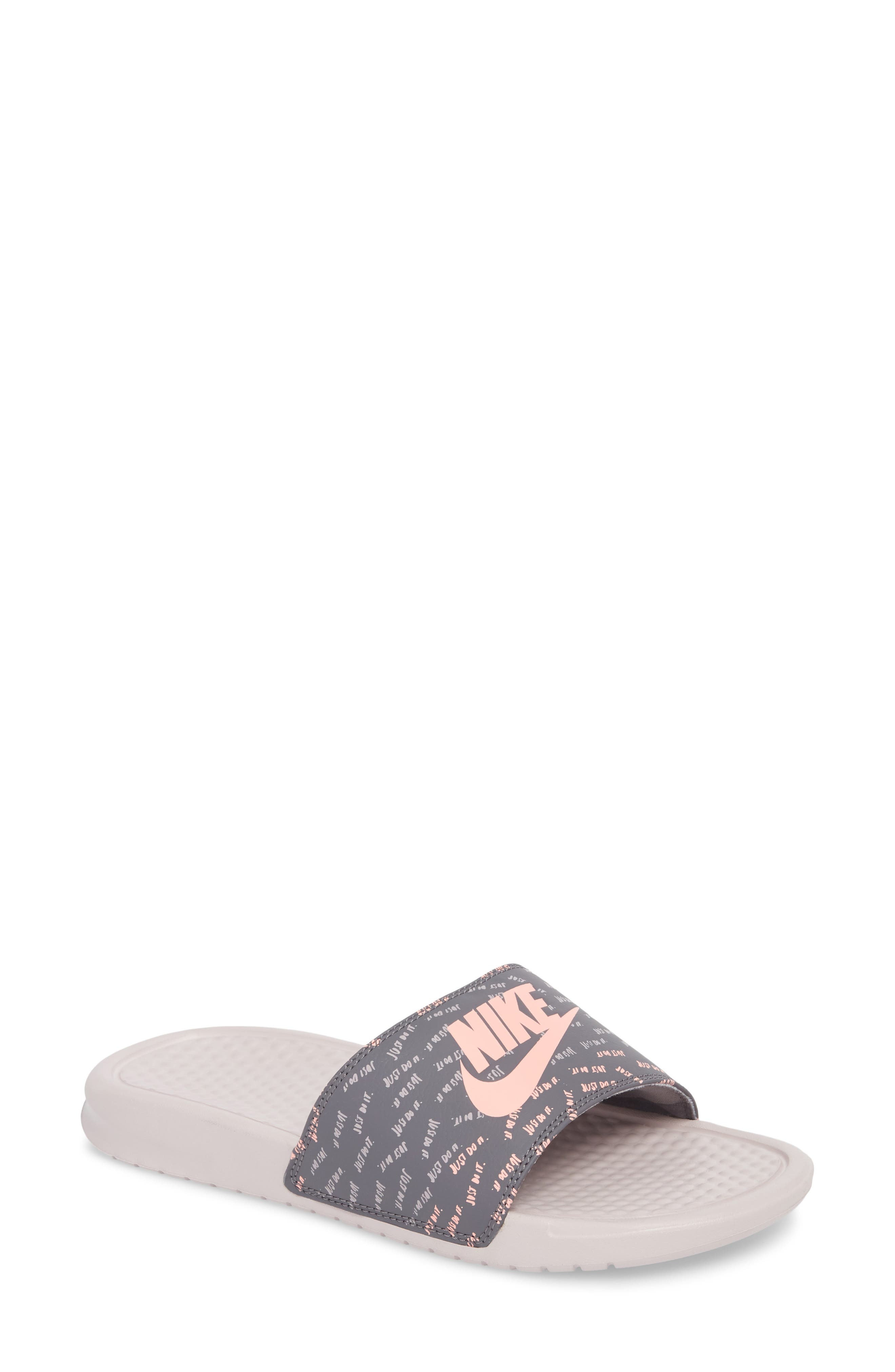 Nike 'Benassi - Just Do It' Print Sandal (Women)