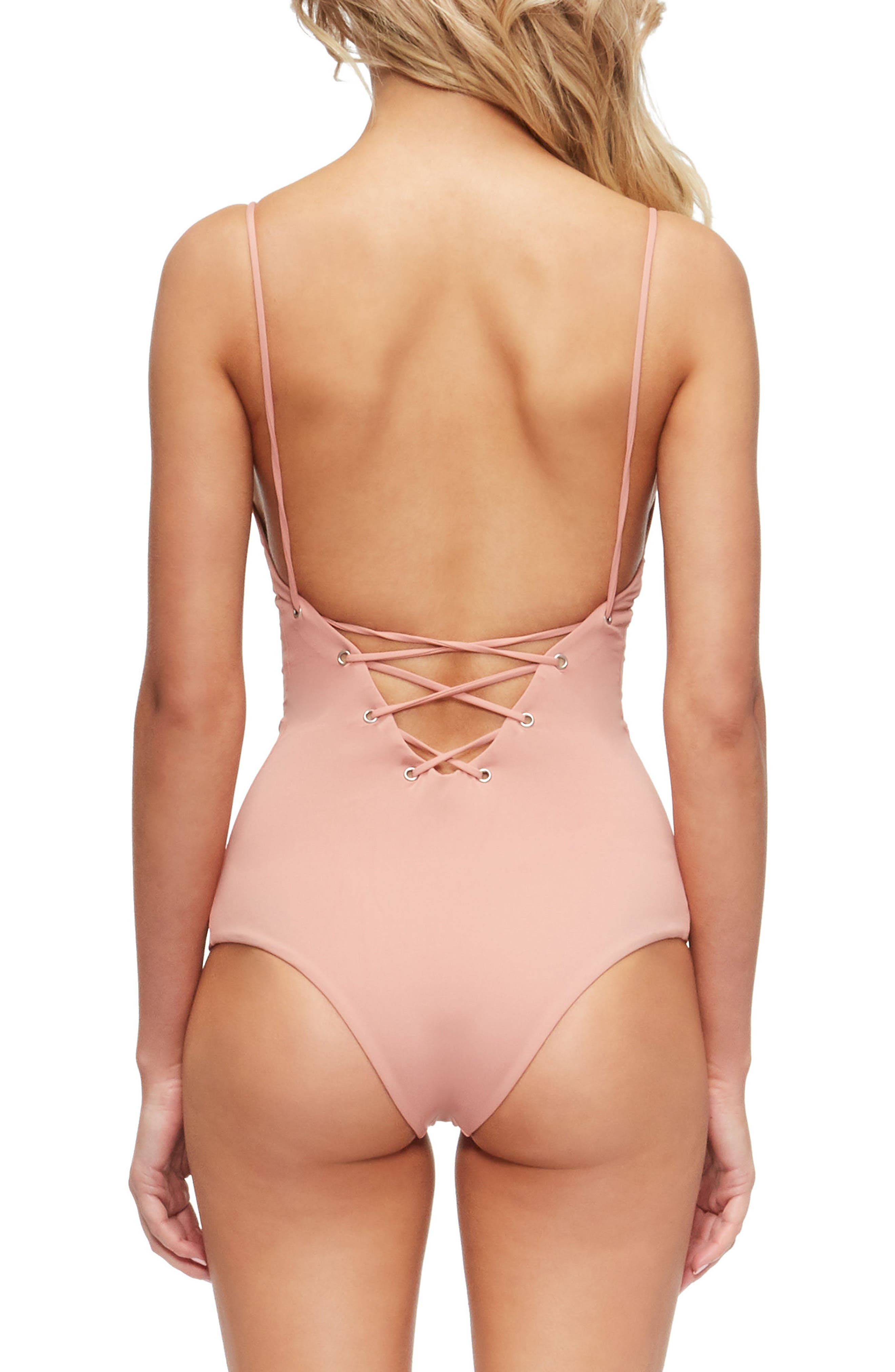 Monahan One-Piece Swimsuit,                             Alternate thumbnail 2, color,                             Rose Dawn