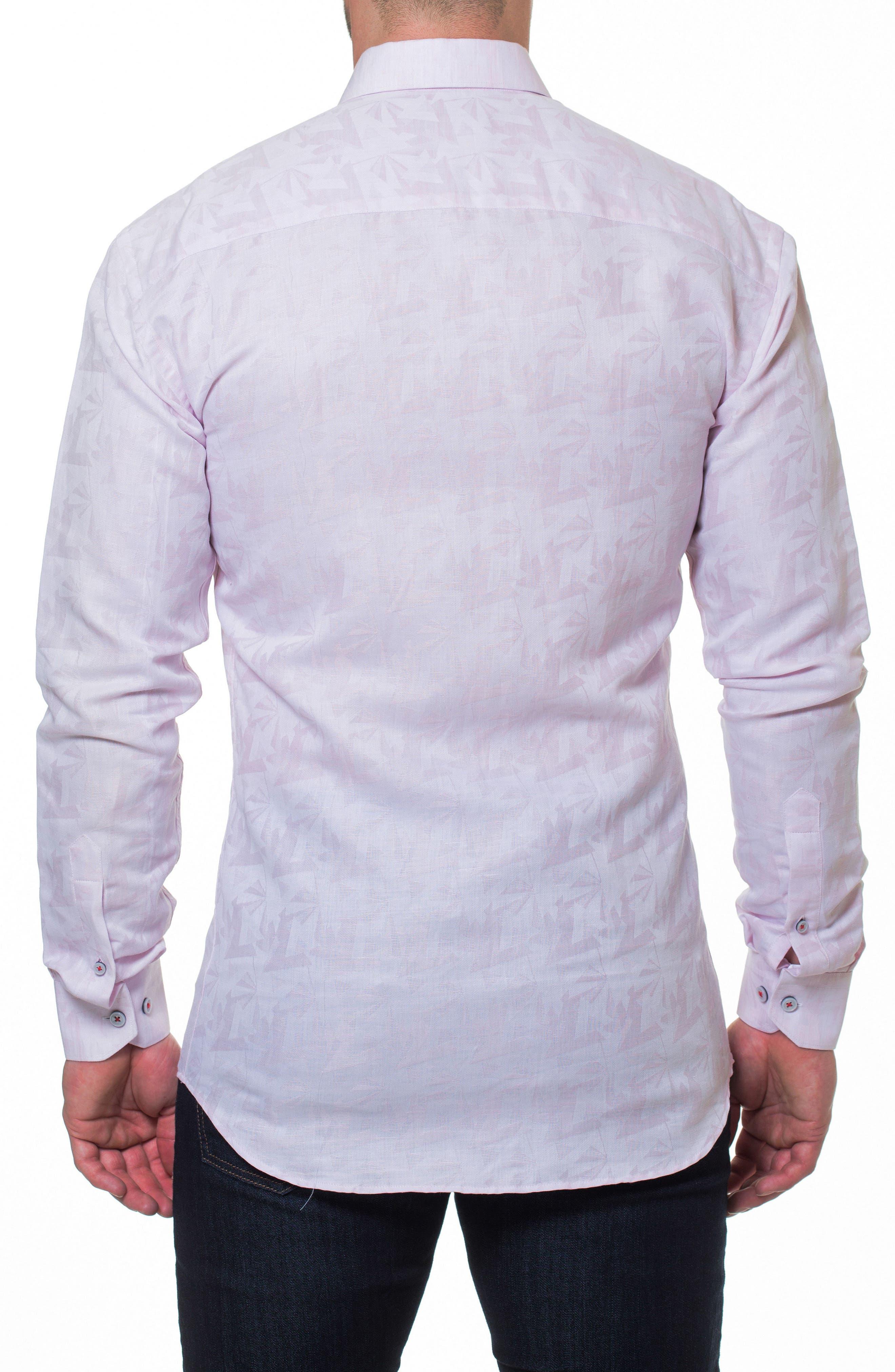 Wall Street Slim Fit Sport Shirt,                             Alternate thumbnail 2, color,                             Pink