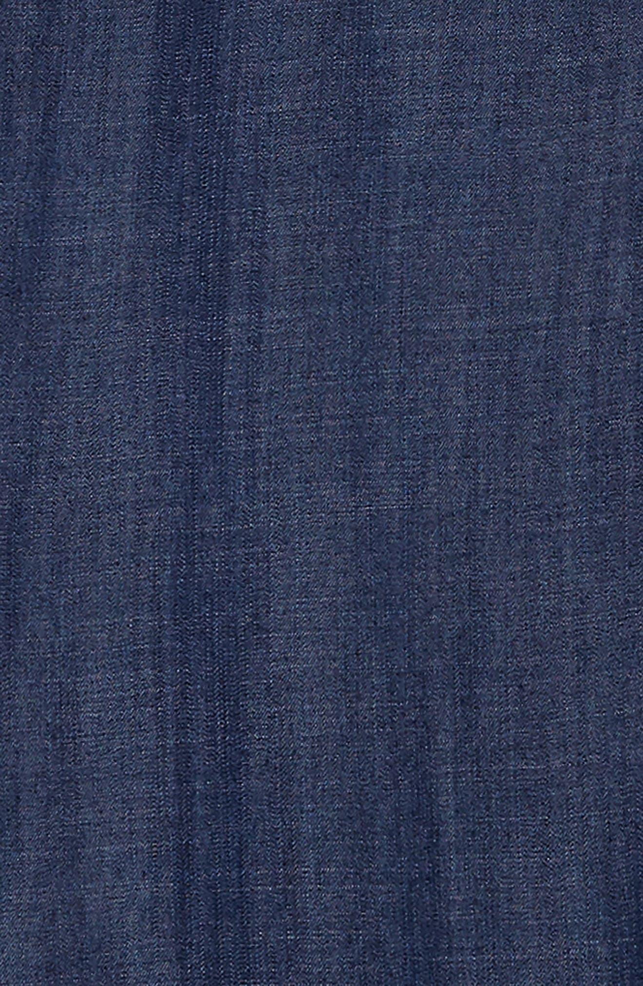 chambray cold shoulder dress,                             Alternate thumbnail 3, color,                             Dark Wash
