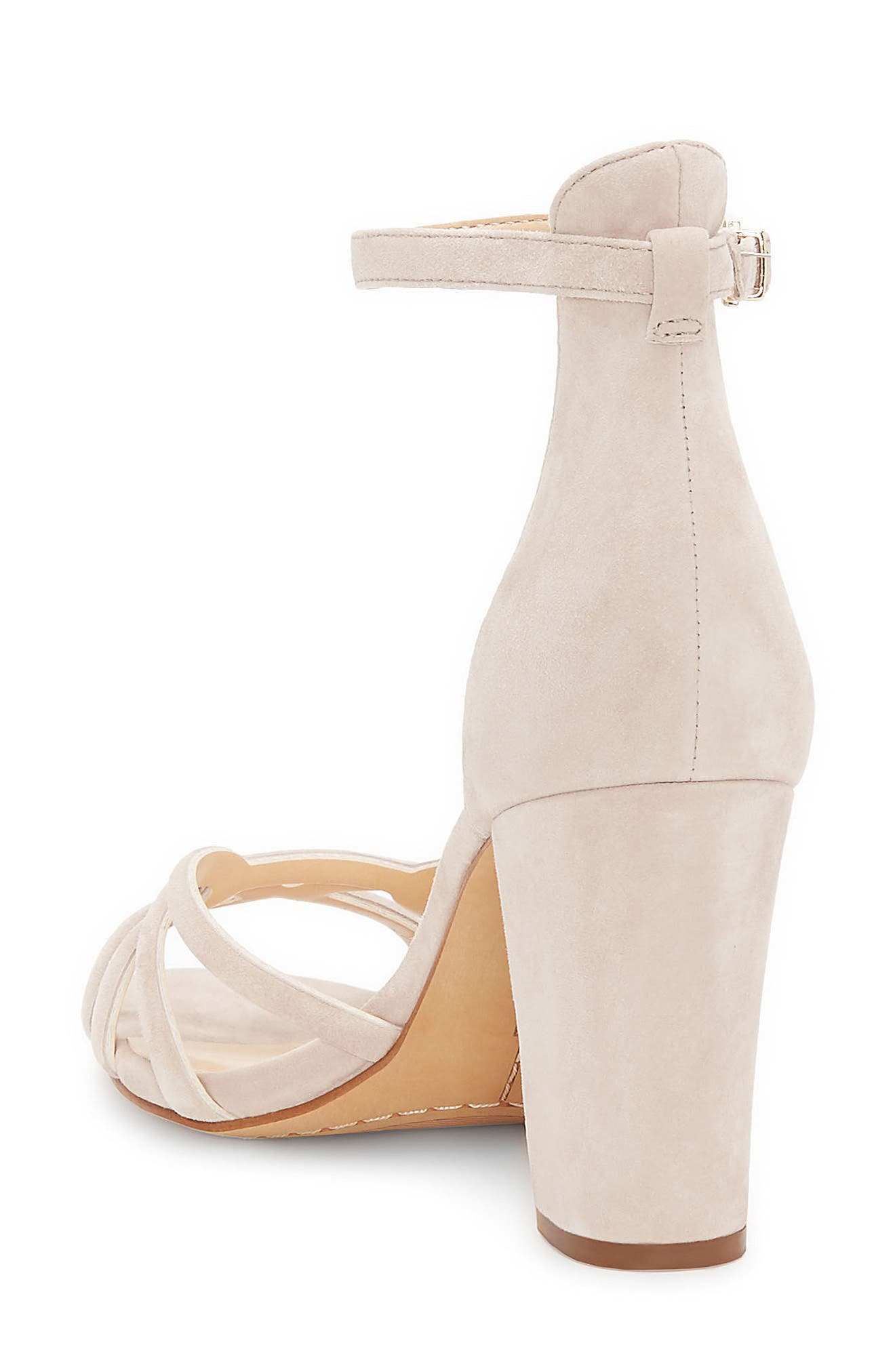 Catelia Ankle Strap Sandal,                             Alternate thumbnail 2, color,                             Taupe Suede