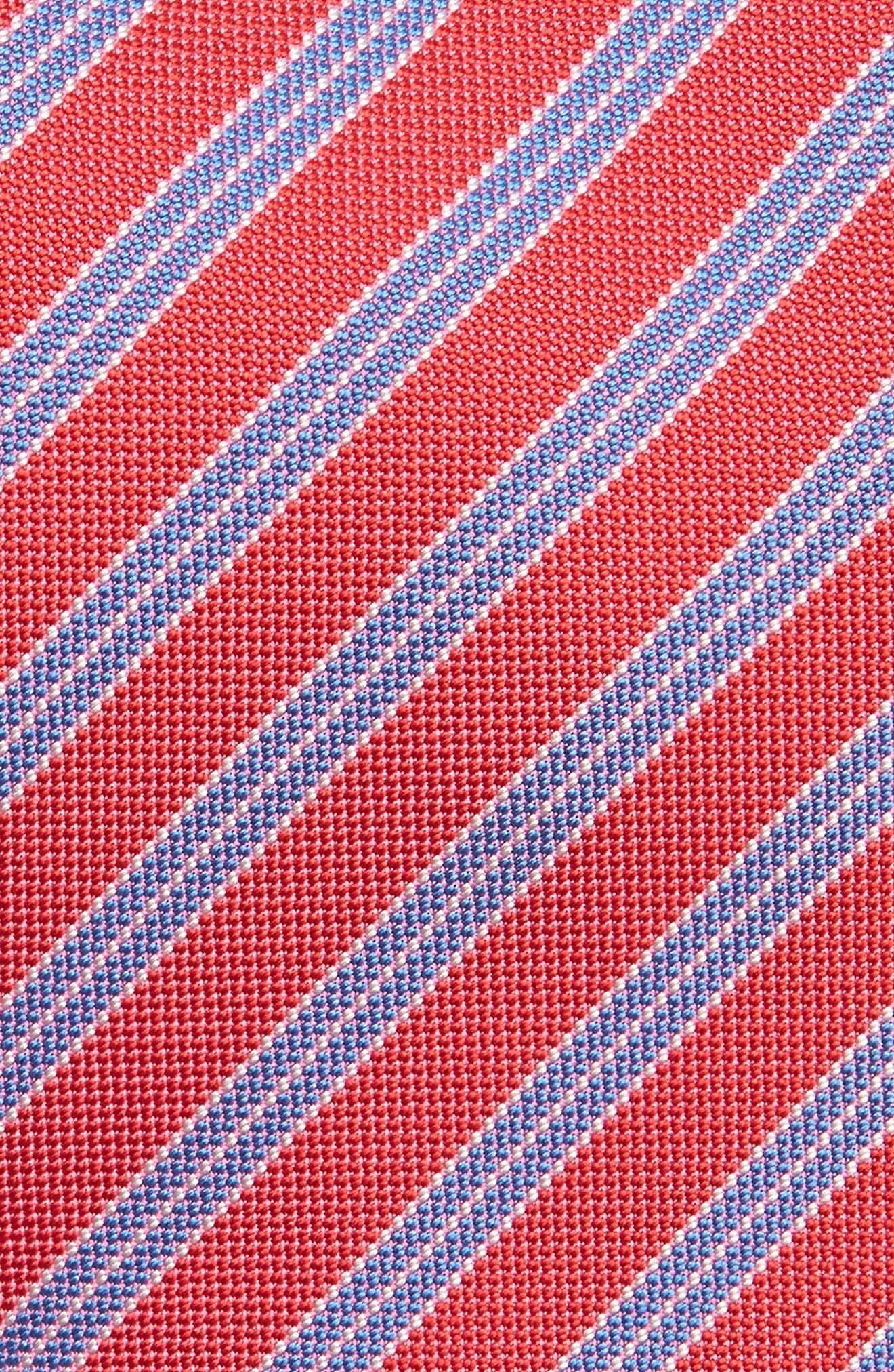 Stripe Silk Tie,                             Alternate thumbnail 2, color,                             Tulip