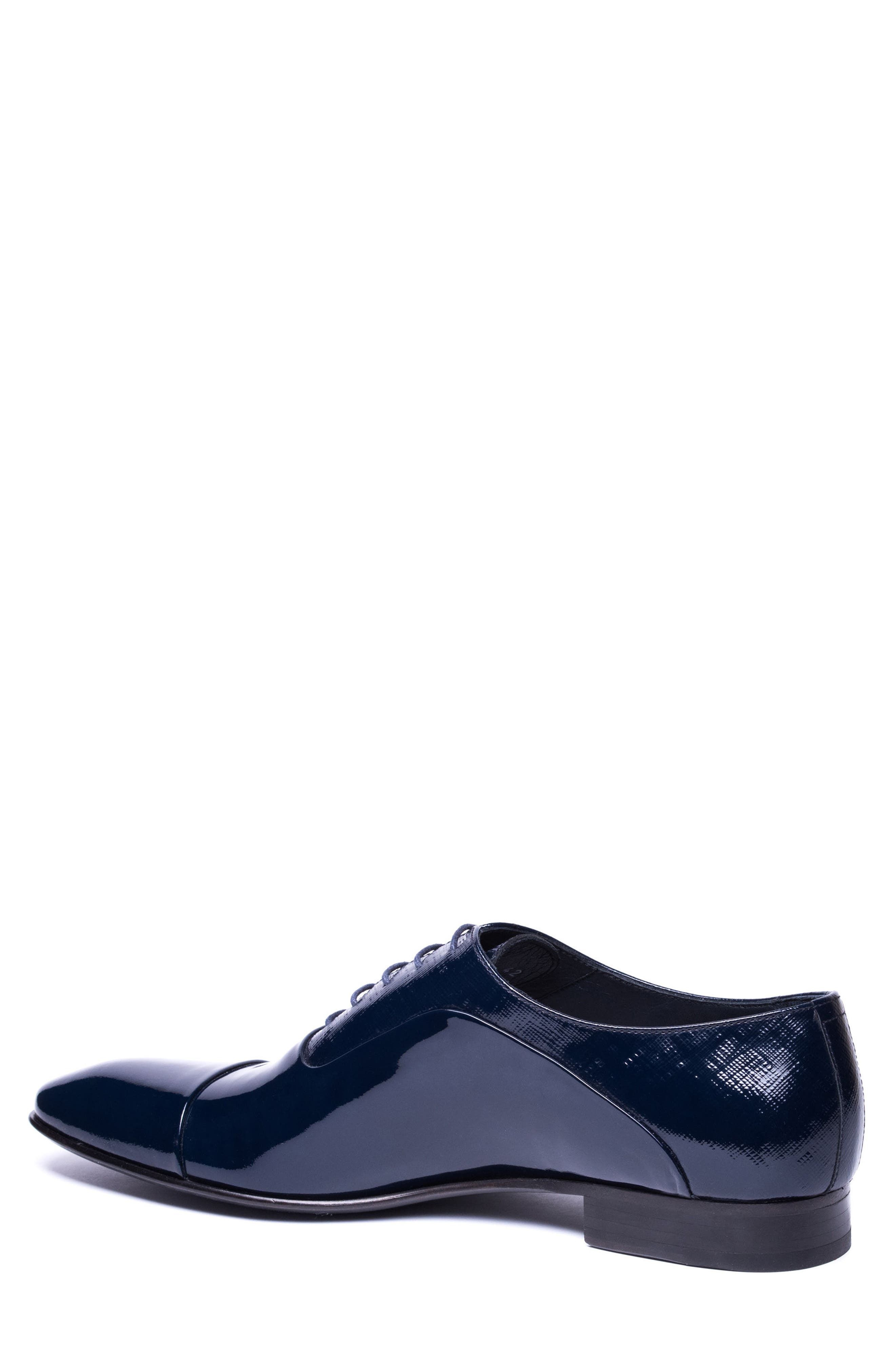 Jimmy Cap Toe Oxford,                             Alternate thumbnail 2, color,                             Navy Leather