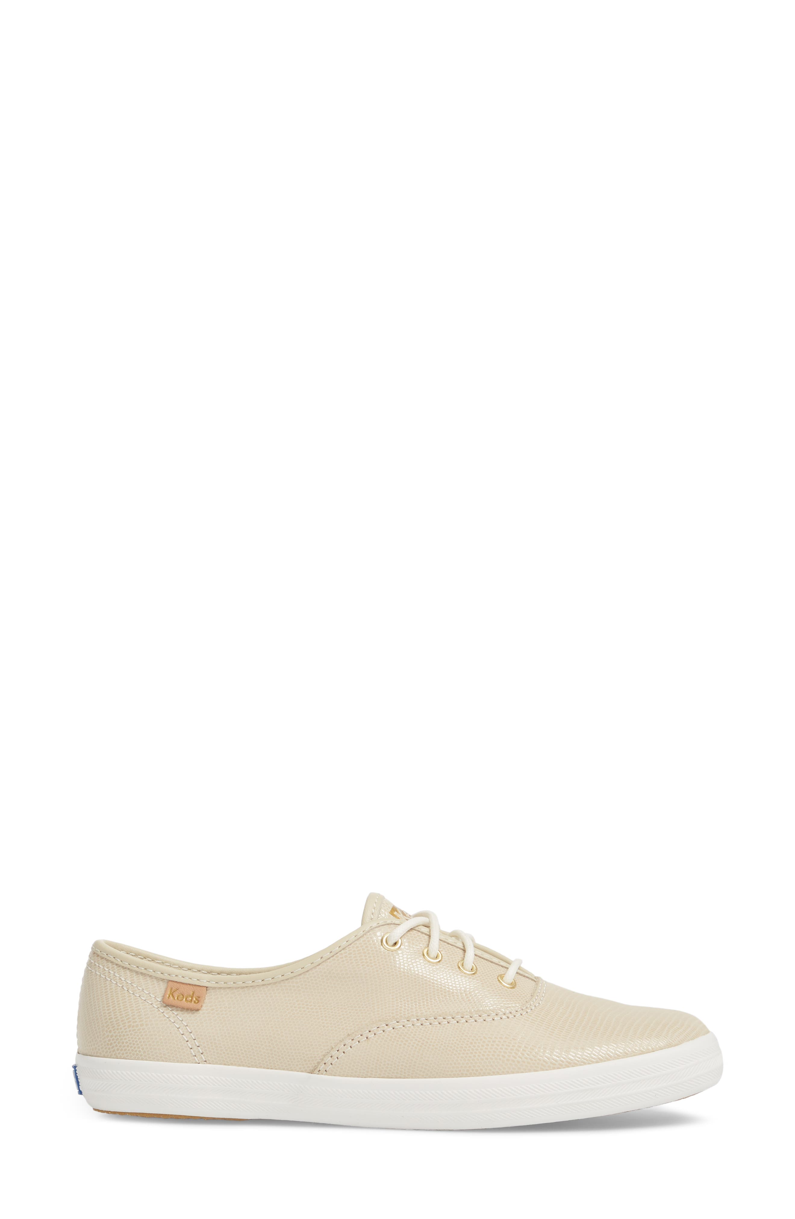 Champion Pretty Leather Sneaker,                             Alternate thumbnail 3, color,                             Ivory