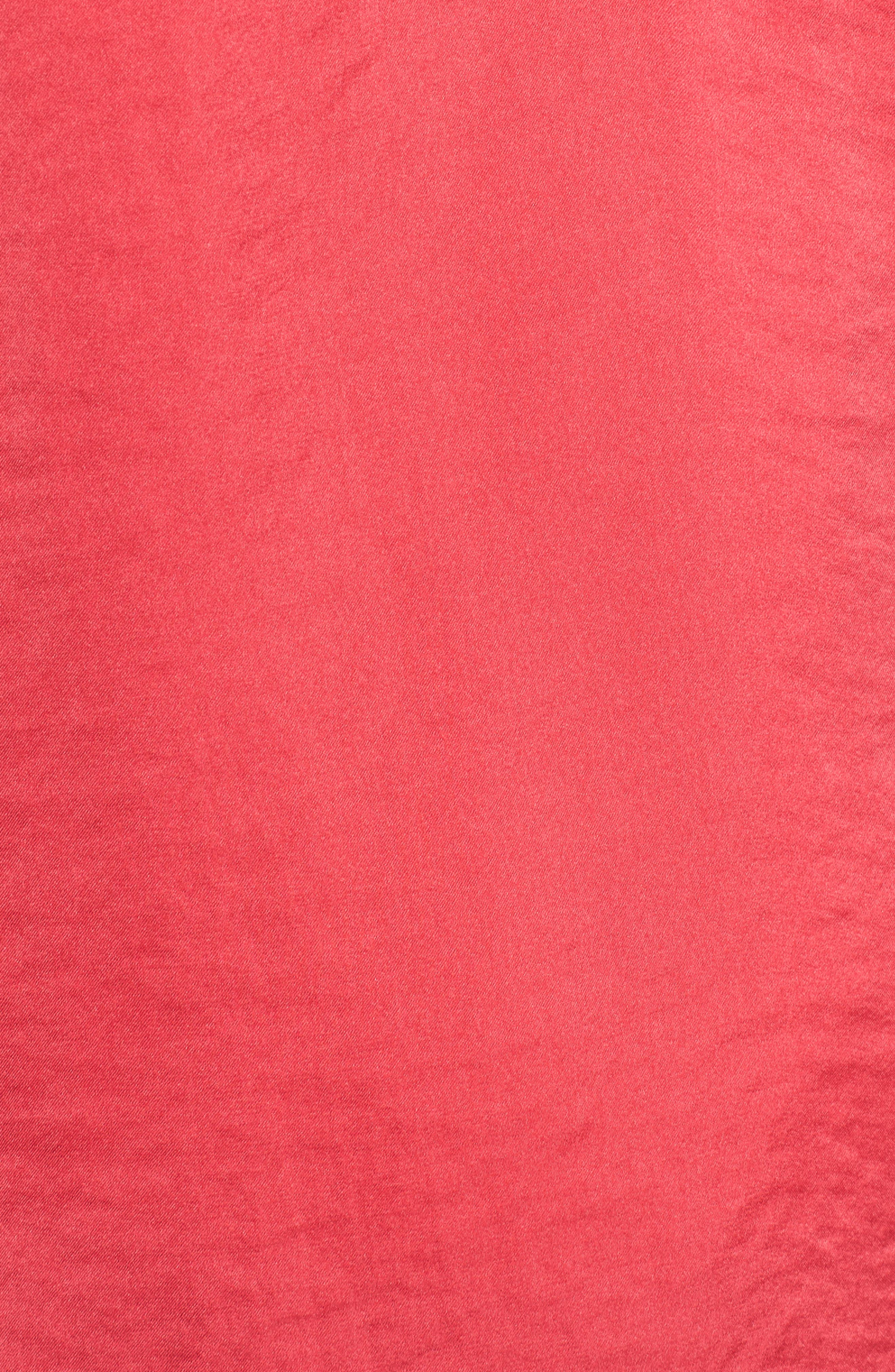 Lace Trim Satin Camisole,                             Alternate thumbnail 6, color,                             Pink Rose