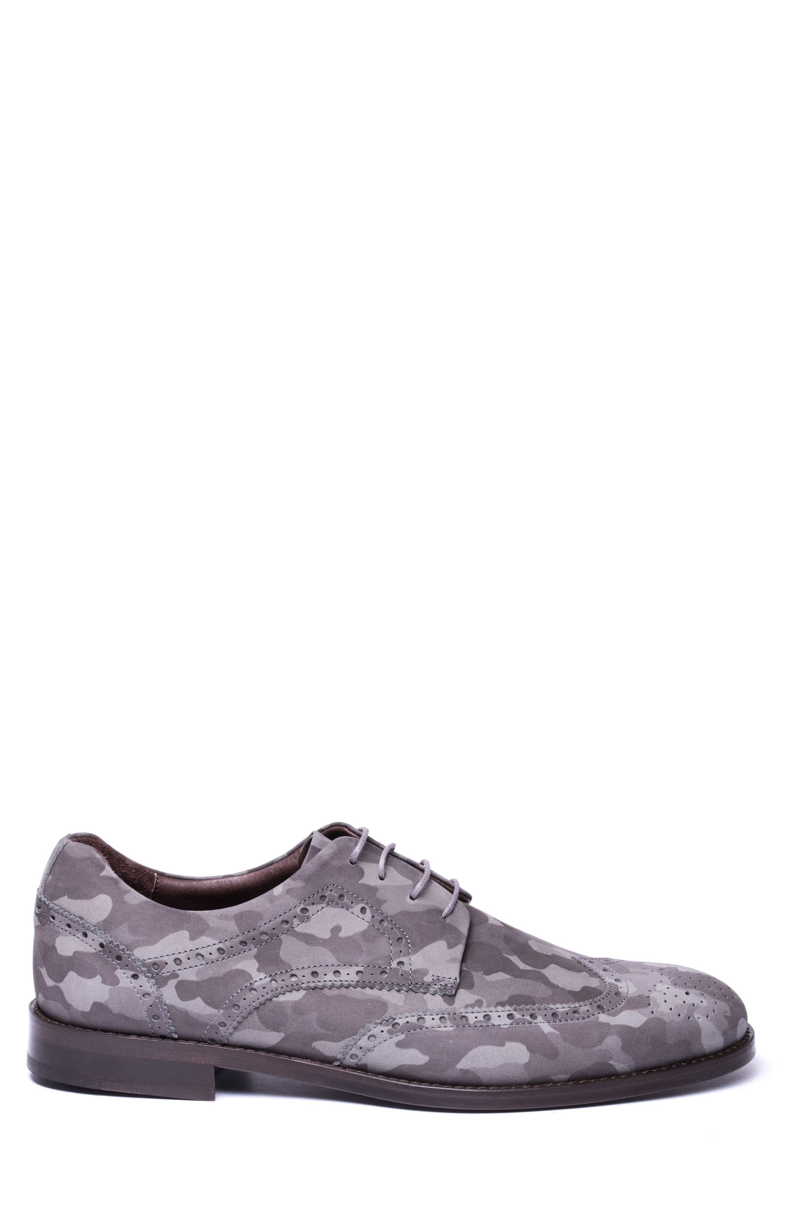 Caleb Camo Wingtip Derby,                             Alternate thumbnail 3, color,                             Grey Camo Leather