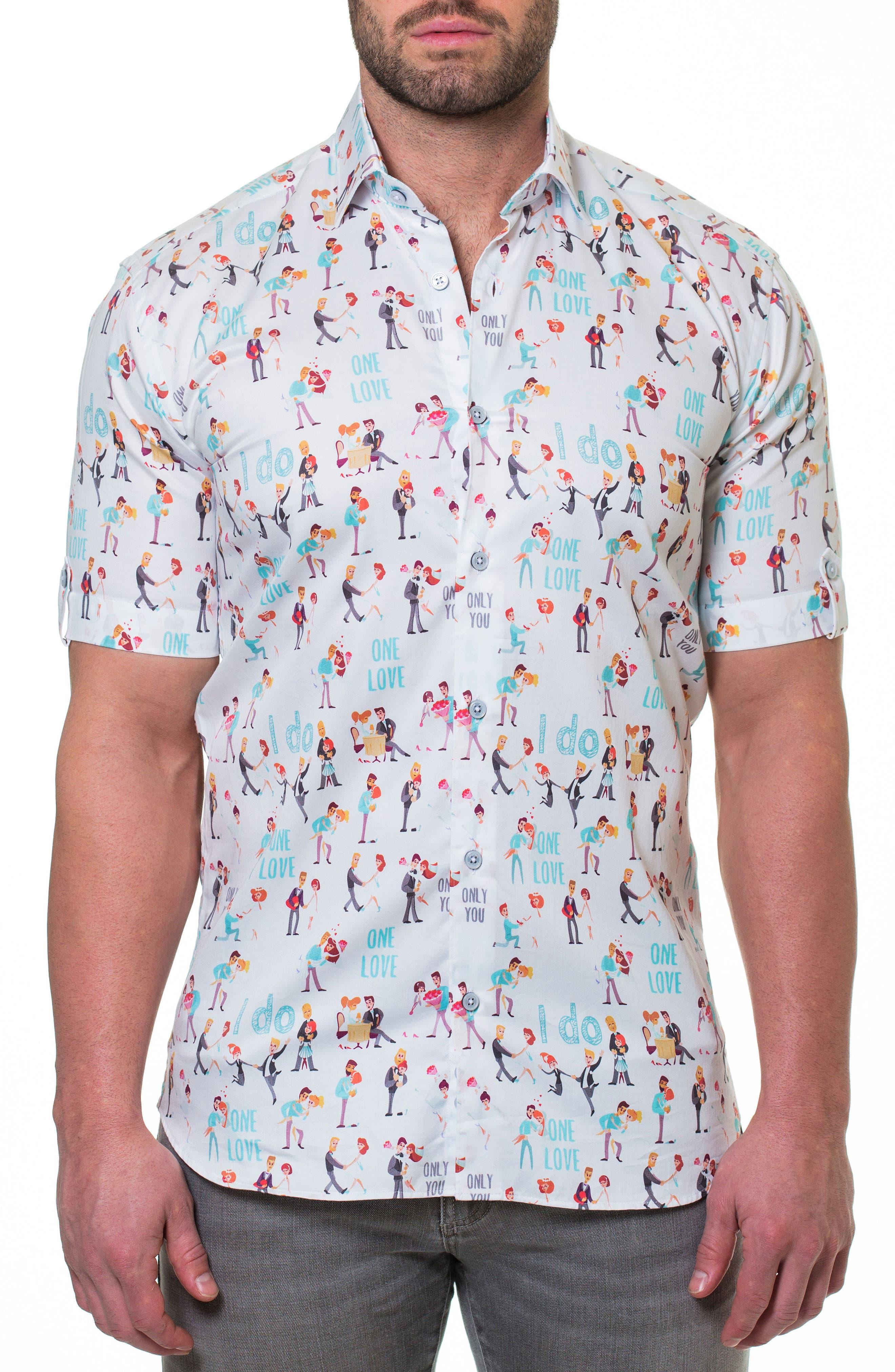 Fresh Proposal Slim Fit Sport Shirt,                         Main,                         color, White