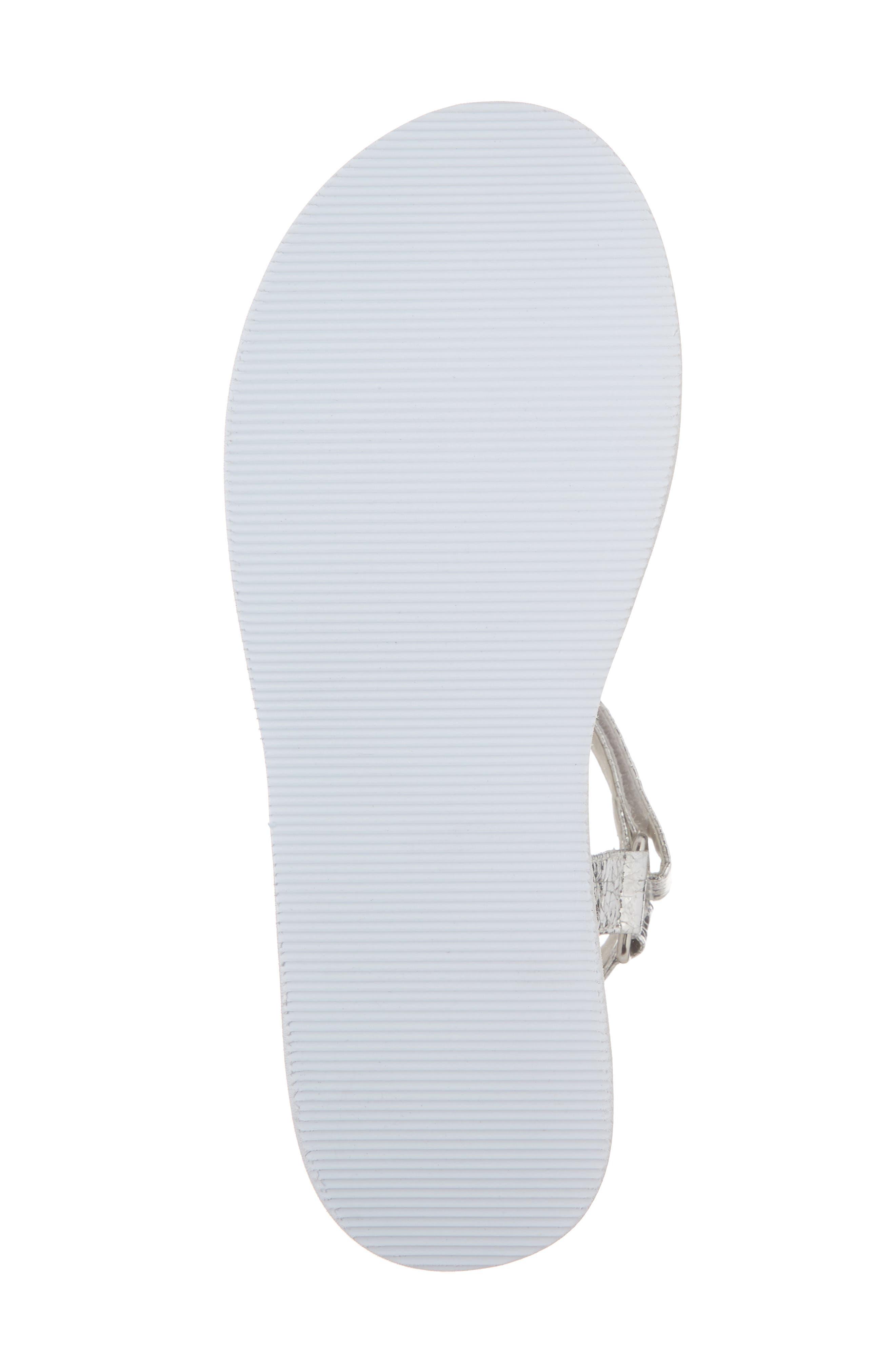 Jayden Platform Sport Sandal,                             Alternate thumbnail 6, color,                             Silver