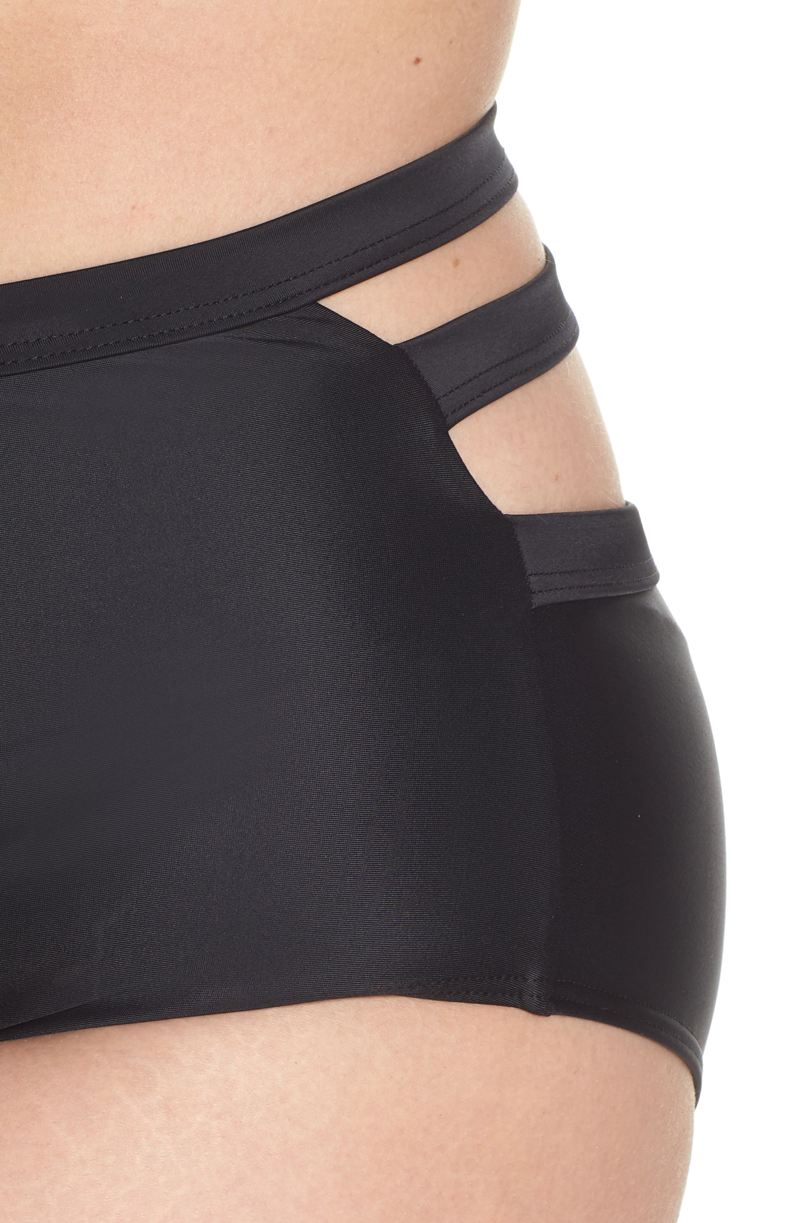Bouloux II High Waist Bikini Bottoms,                             Alternate thumbnail 11, color,                             Black