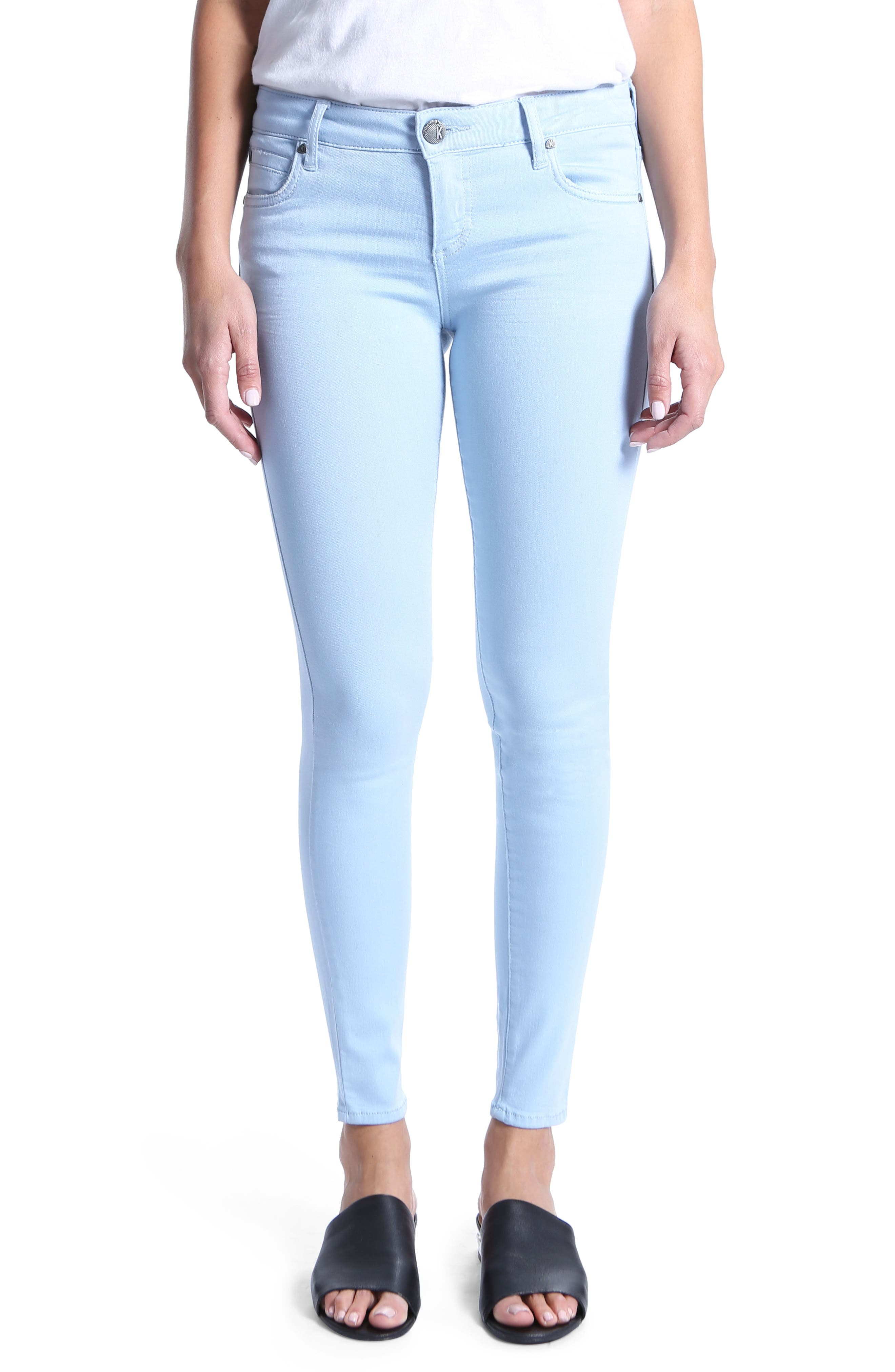 Mia Ankle Toothpick Jeans,                         Main,                         color, Blue