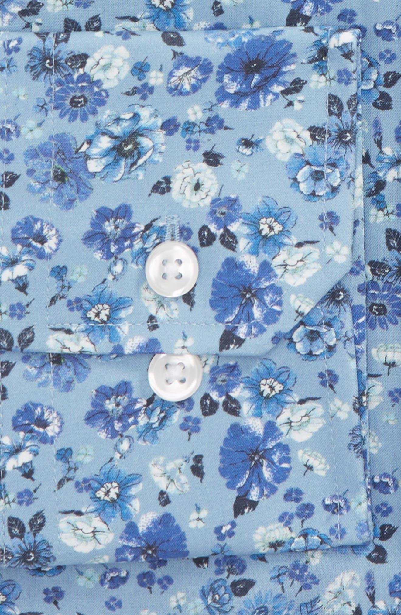 by Ilaria Urbinati Edmond Slim Fit Floral Dress Shirt,                             Alternate thumbnail 3, color,                             Light Blue