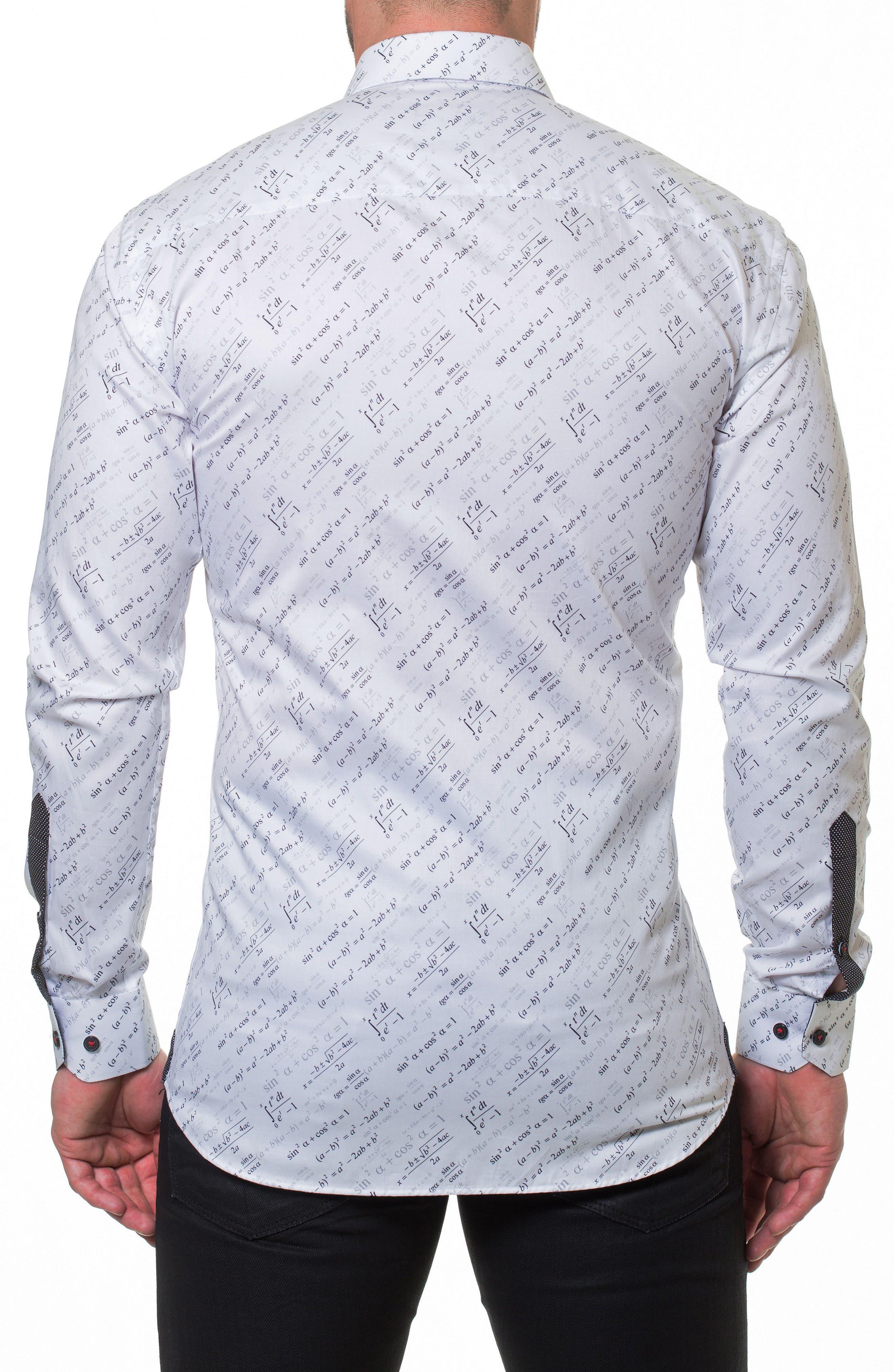 Luxor Trig Slim Fit Sport Shirt,                             Alternate thumbnail 2, color,                             White