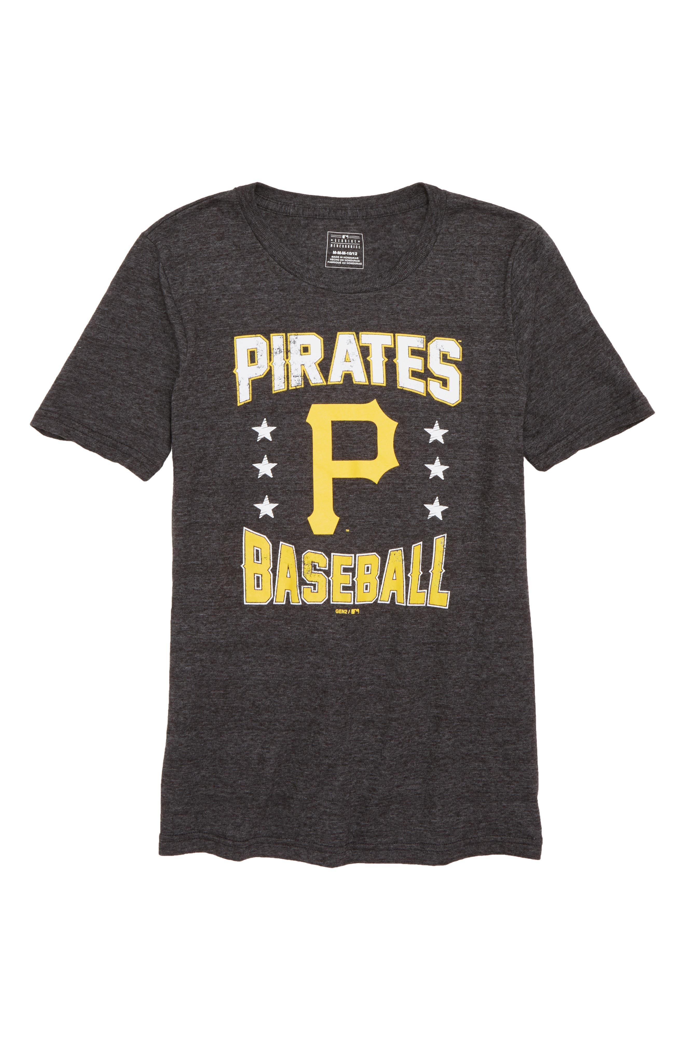 Pittsburgh Pirates Triple Play T-Shirt,                             Main thumbnail 1, color,                             Black