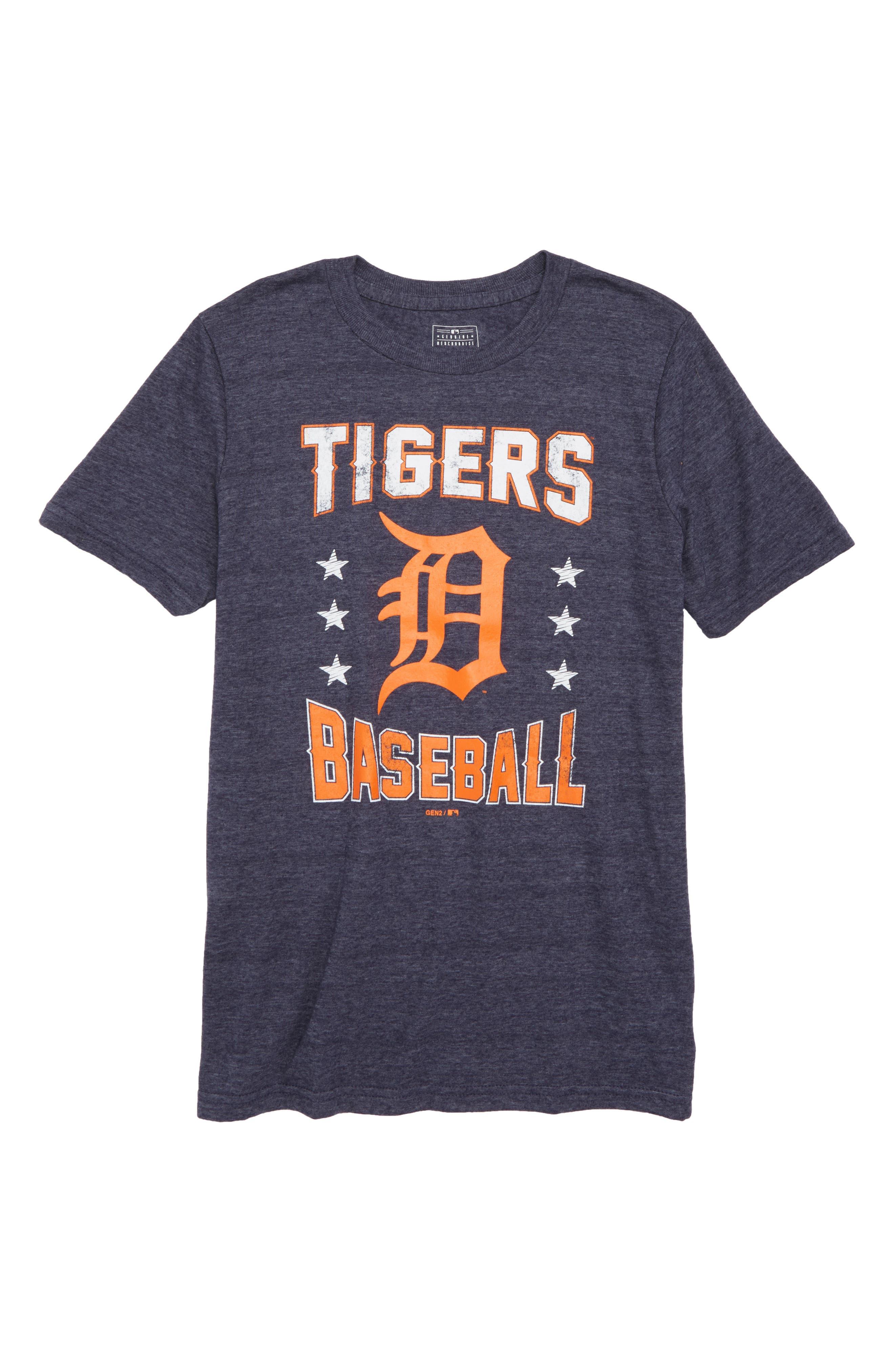 Detroit Tigers Triple Play T-Shirt,                             Main thumbnail 1, color,                             Navy