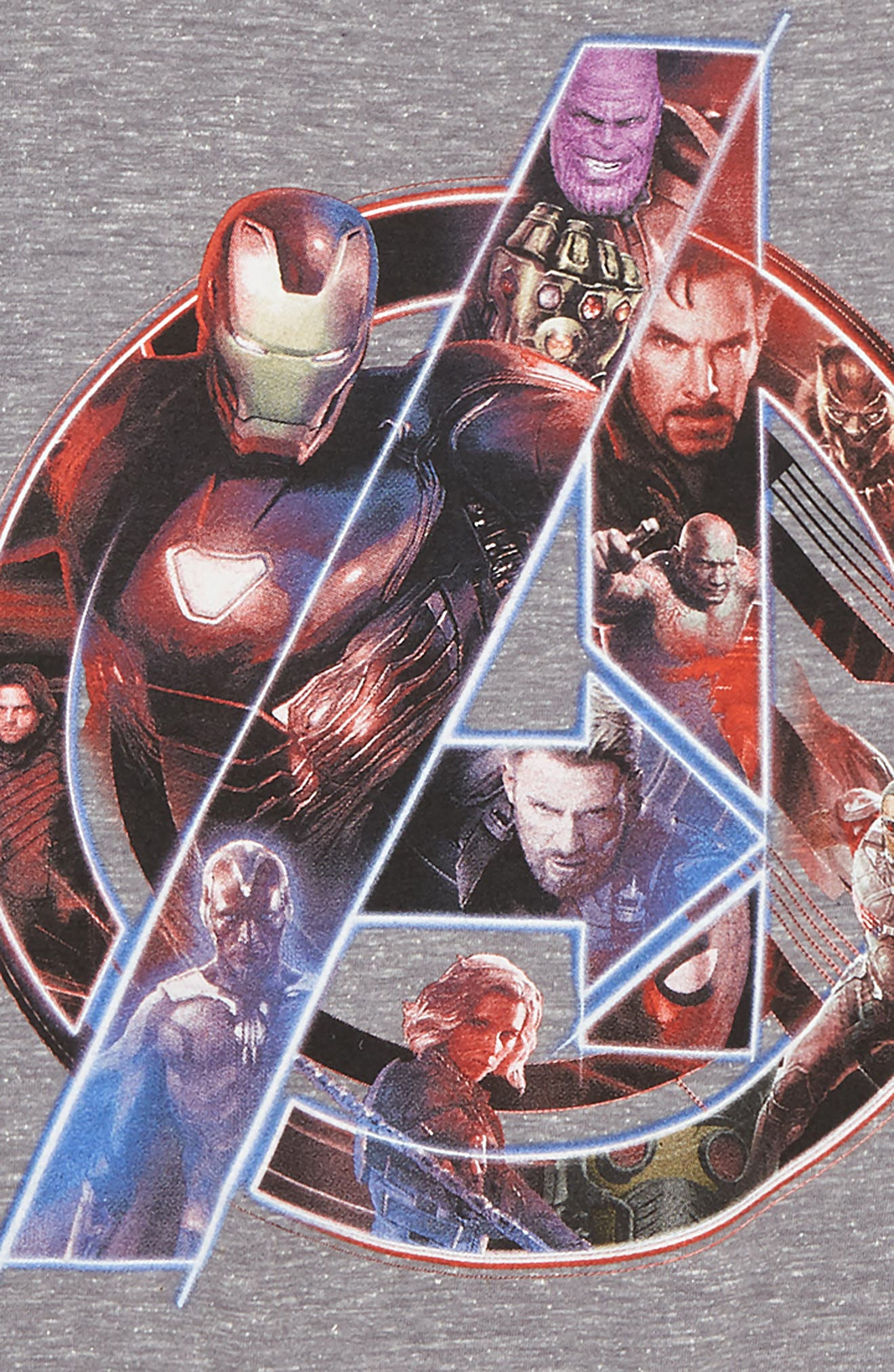 Infinity Wars Avengers Graphic T-Shirt,                             Alternate thumbnail 2, color,                             Triblend Heather