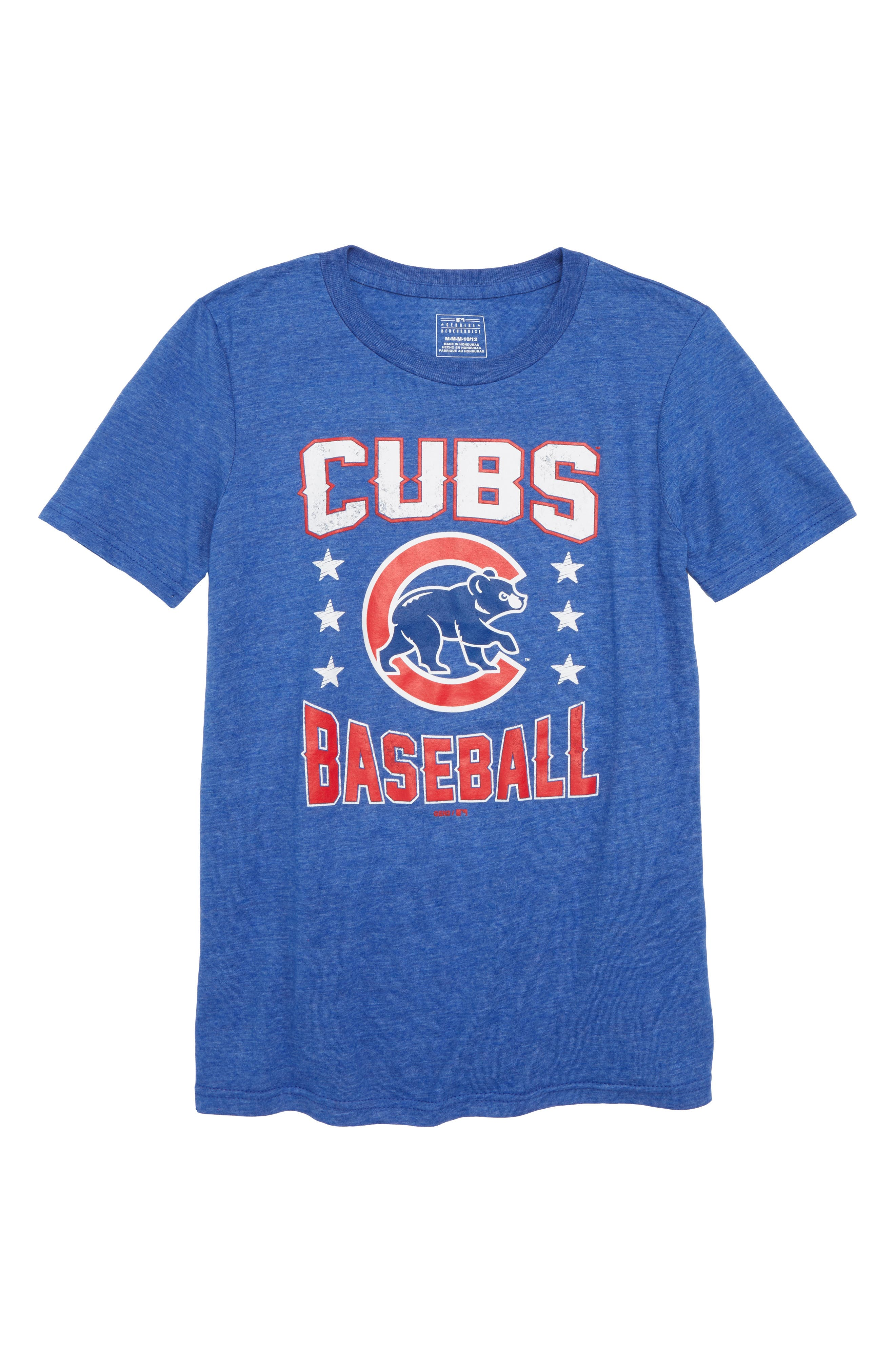 Chicago Cubs Triple Play T-Shirt,                         Main,                         color, Royal