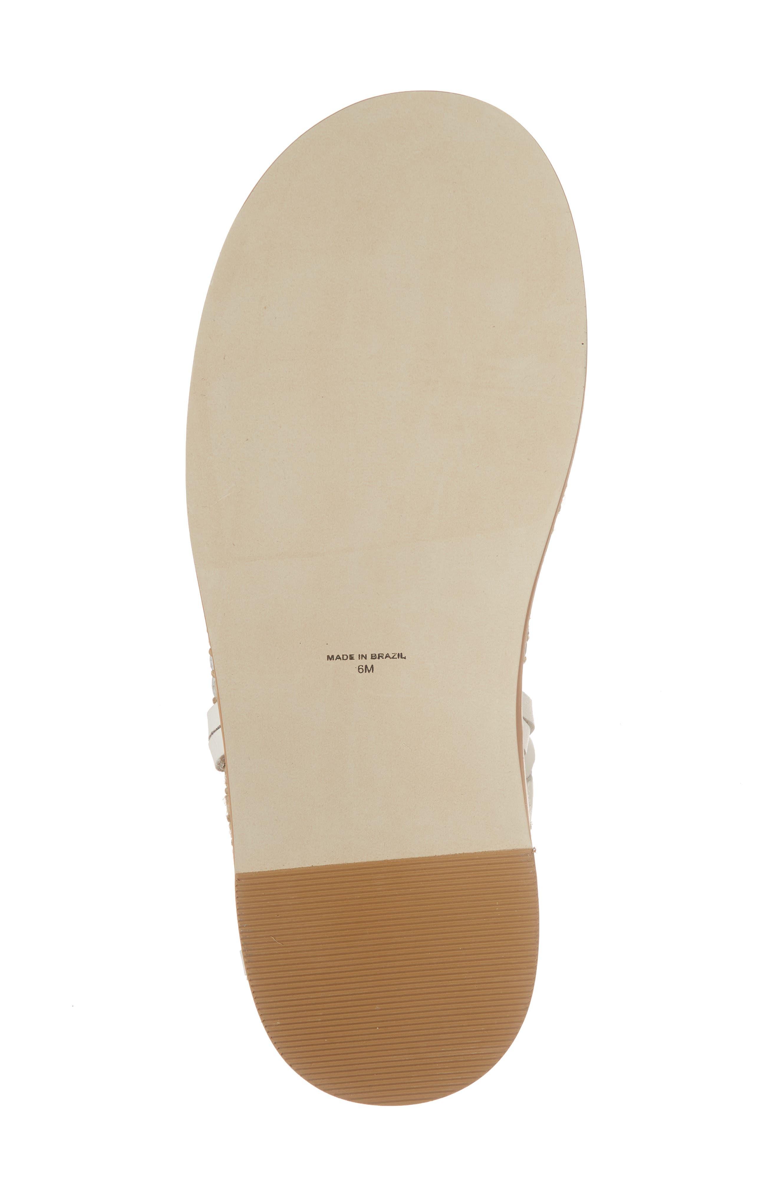 Tabby Gladiator Sandal,                             Alternate thumbnail 6, color,                             Natural Leather