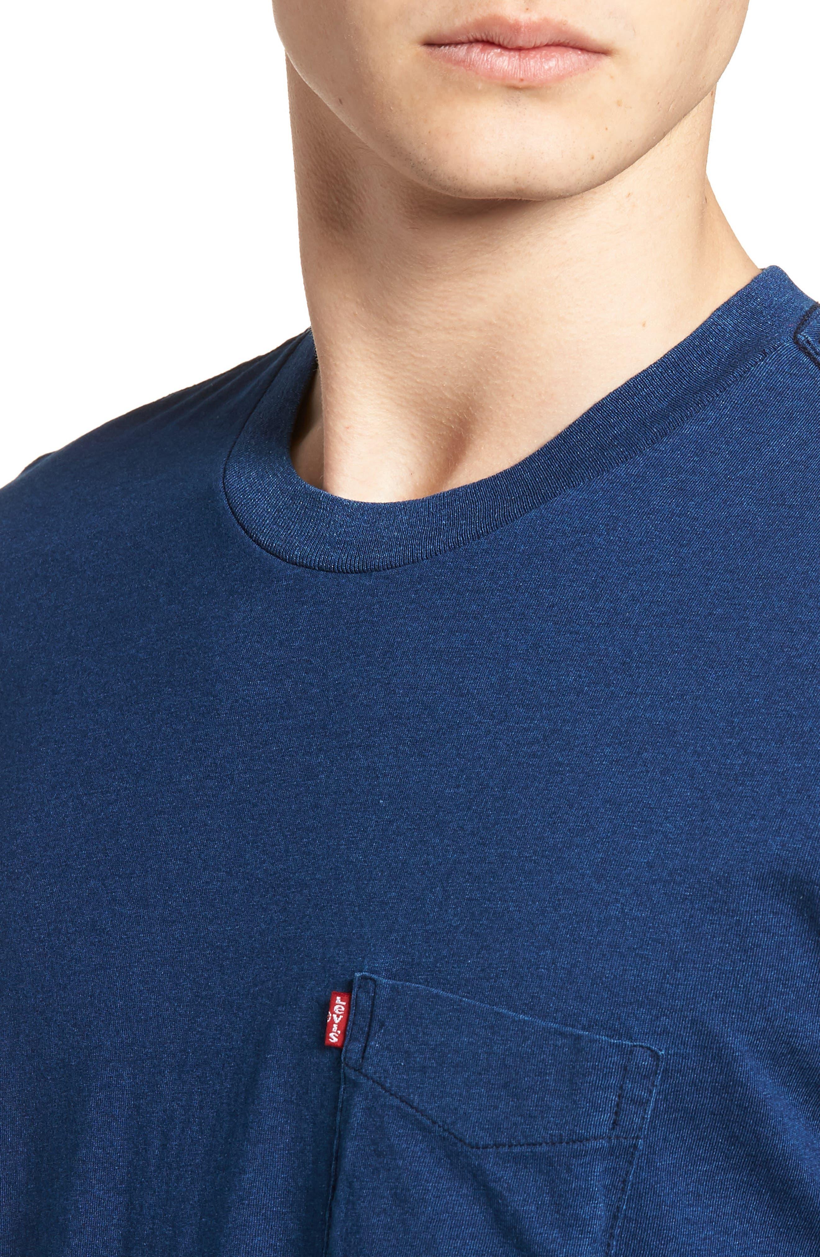 Pocket T-Shirt,                             Alternate thumbnail 4, color,                             Medium Indigo Xx
