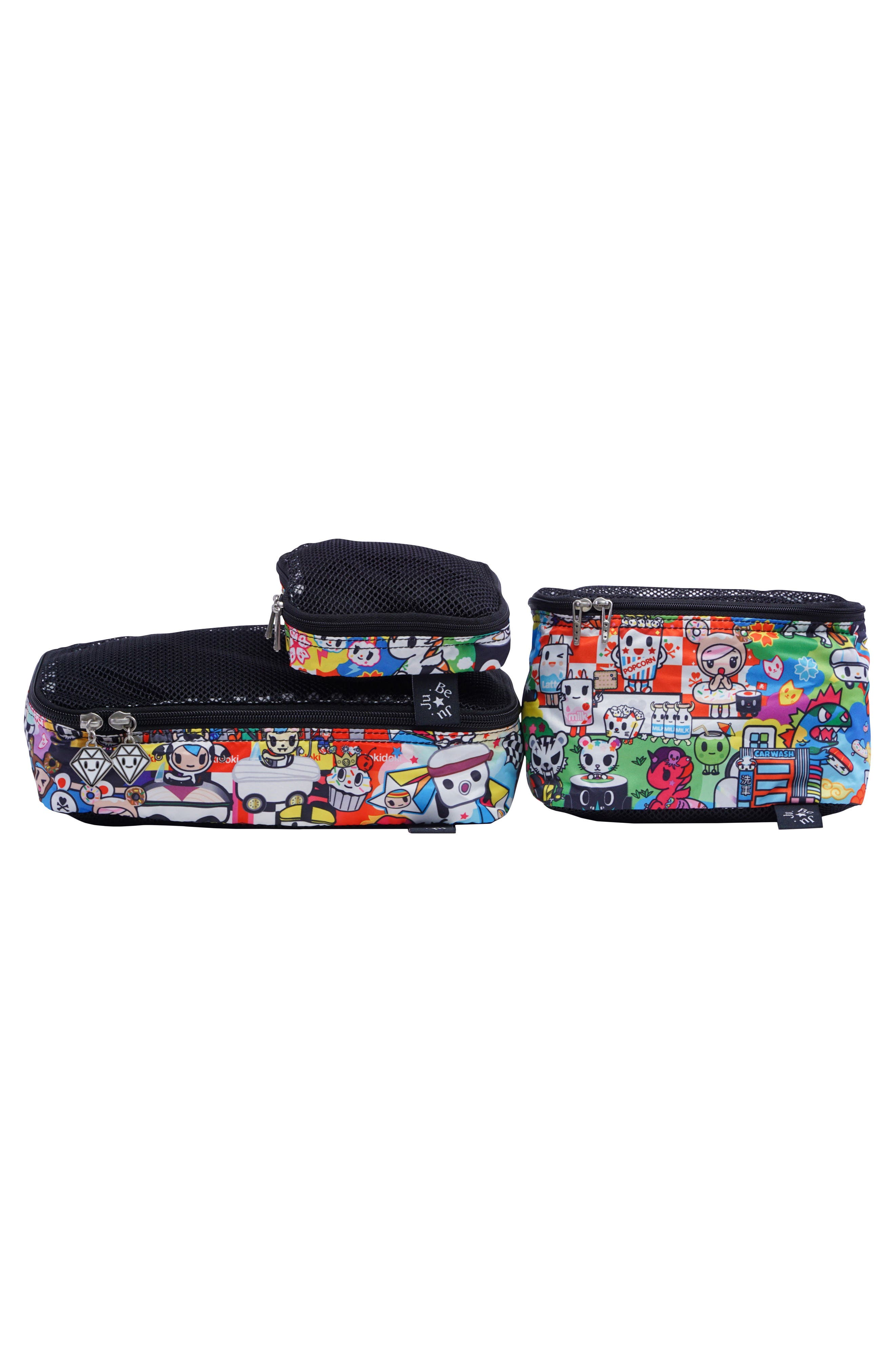 x tokidoki Be Organized Set of 3 Top Zip Cases,                             Main thumbnail 1, color,                             Sushi Cars