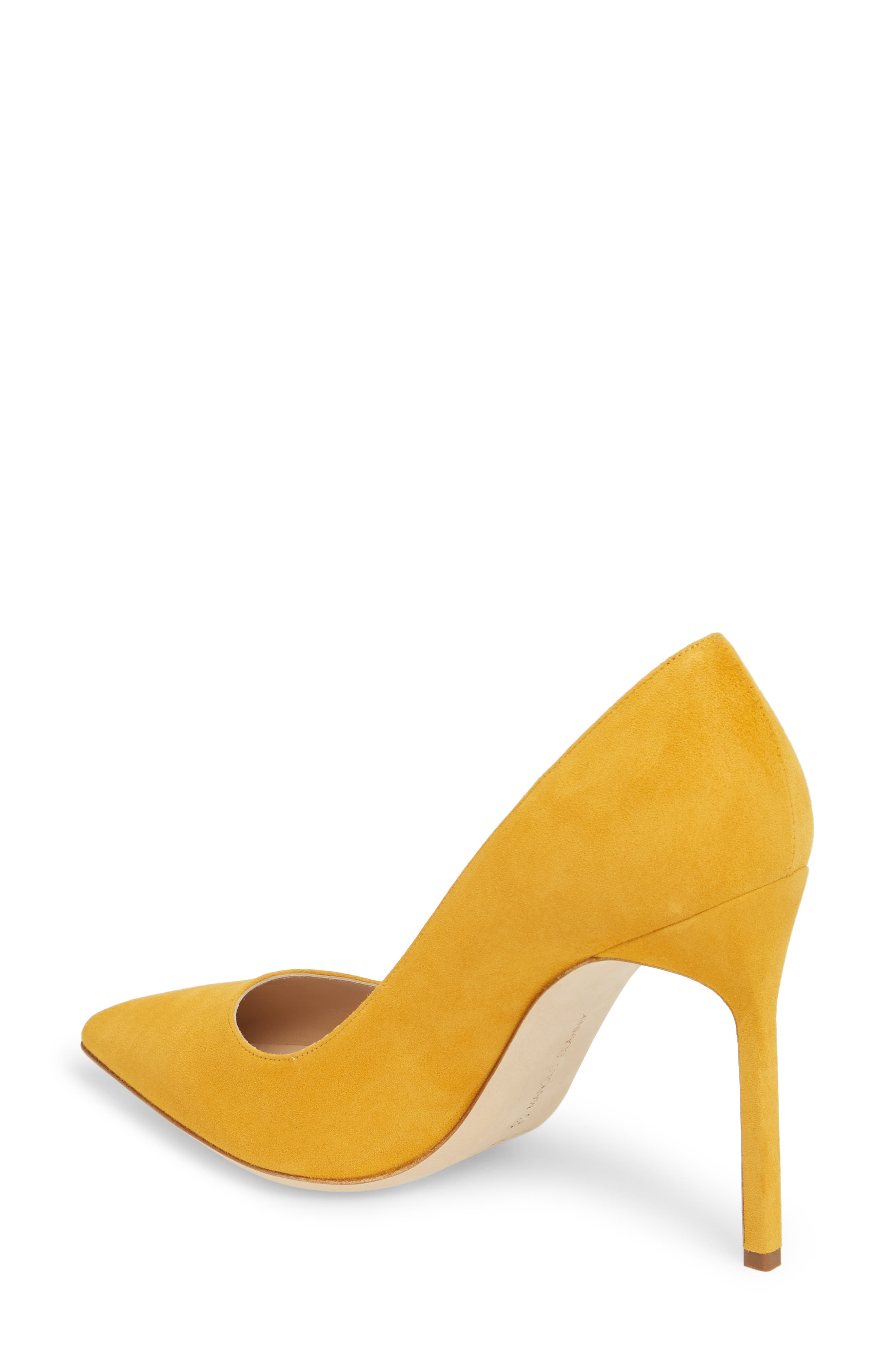 'BB' Pointy Toe Pump,                             Alternate thumbnail 2, color,                             Arbor Yellow