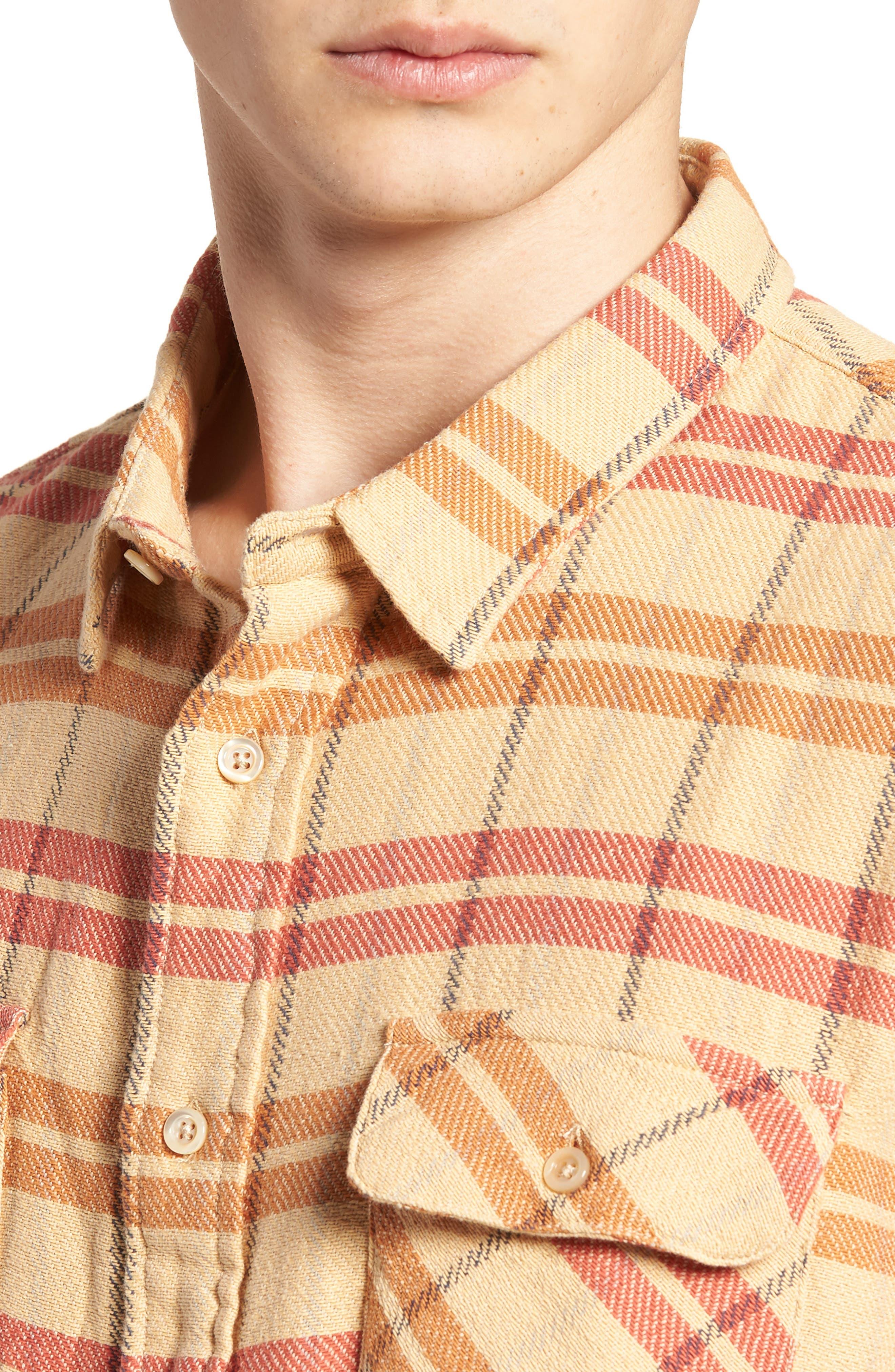 Shorthorn Western Shirt,                             Alternate thumbnail 2, color,                             Sunfaded Orange