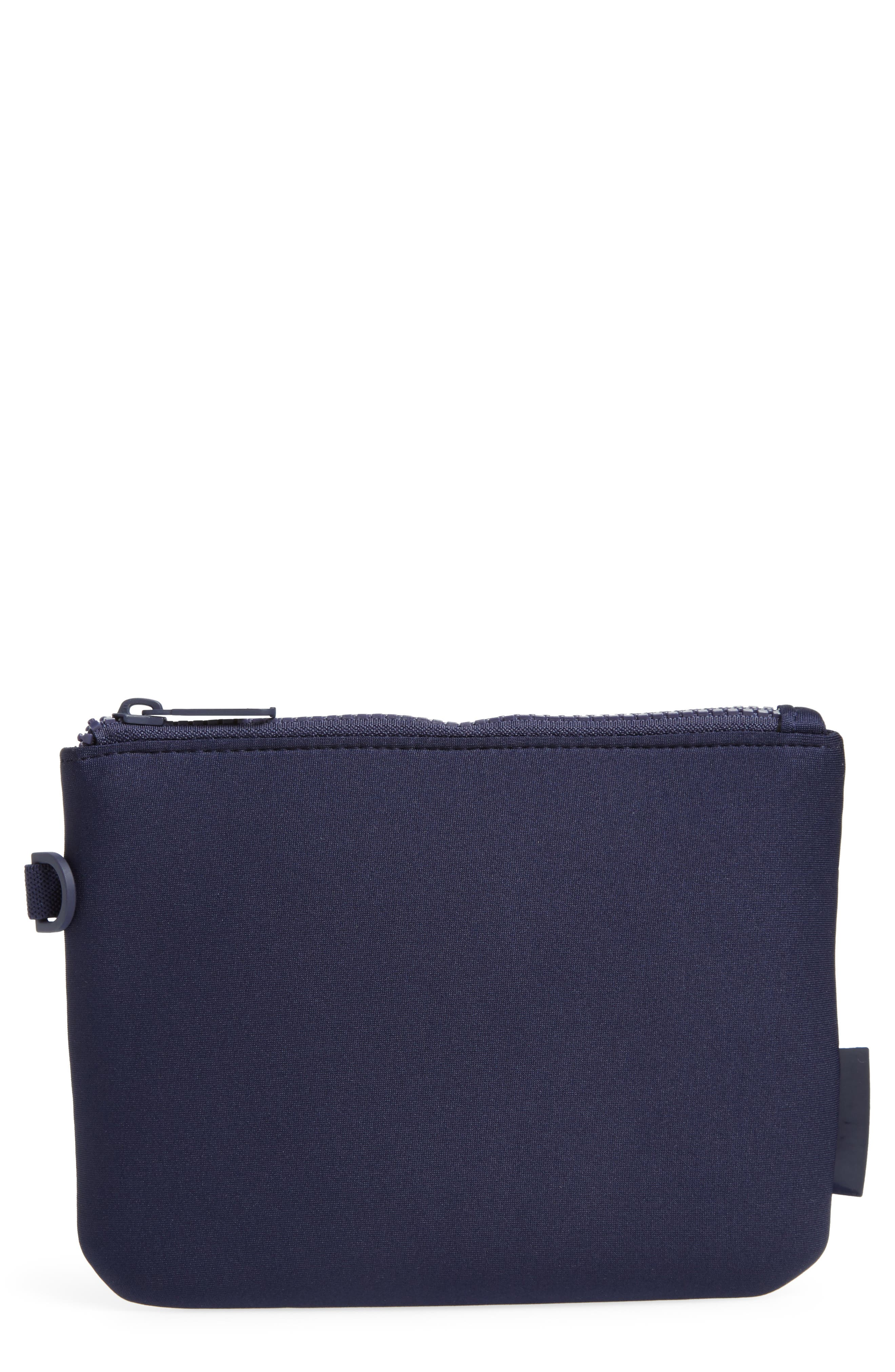 DAGNE DOVER Scout Small Zip Top Pouch - Blue in Storm