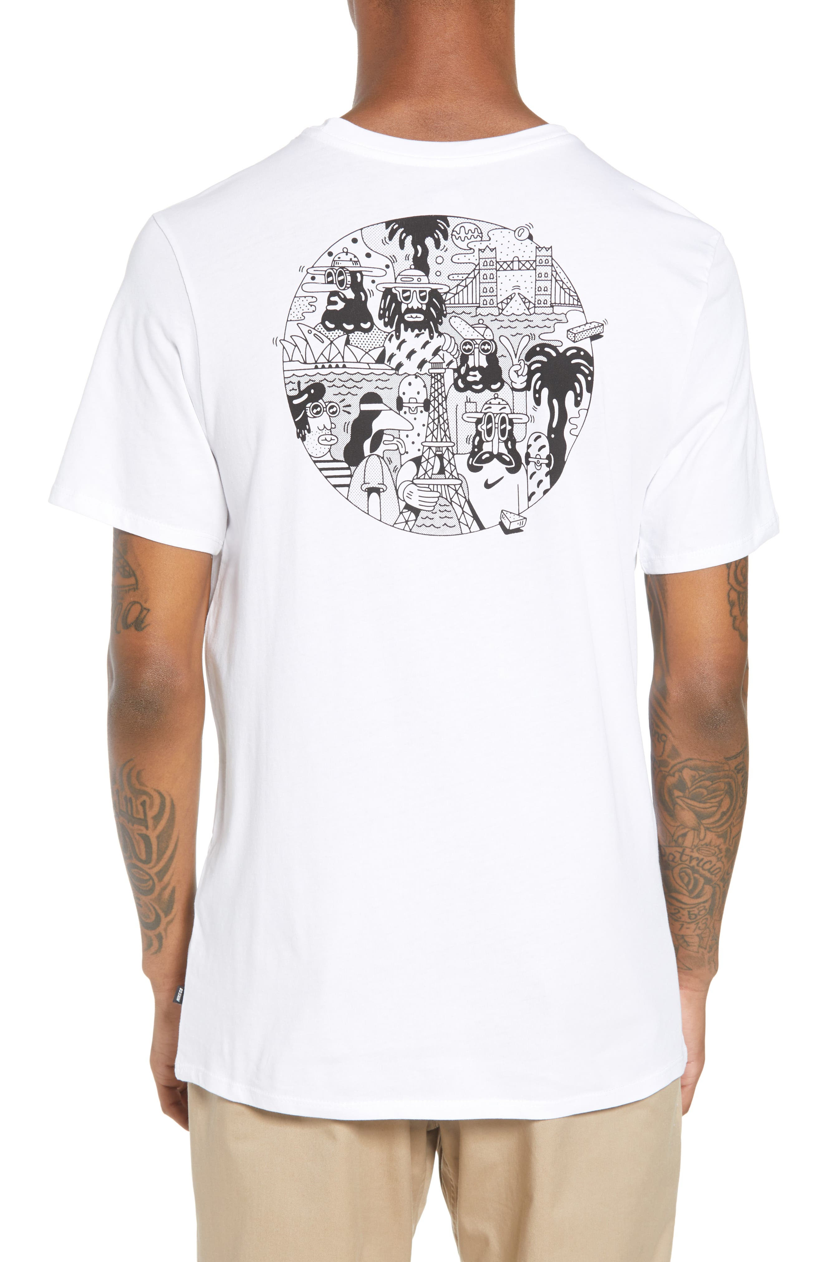 SB Monuments T-Shirt,                             Alternate thumbnail 2, color,                             White/ Black