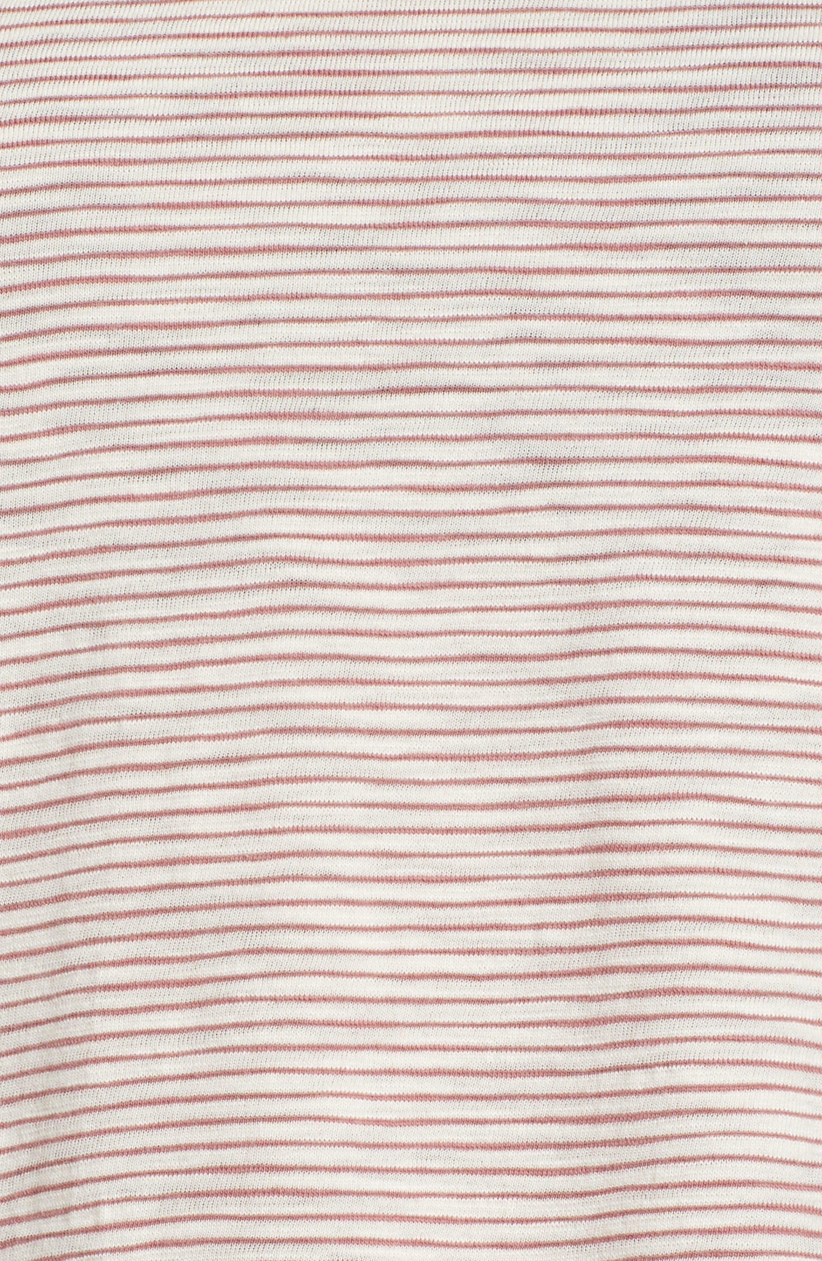 Striped Peplum Top,                             Alternate thumbnail 6, color,                             Red Multi