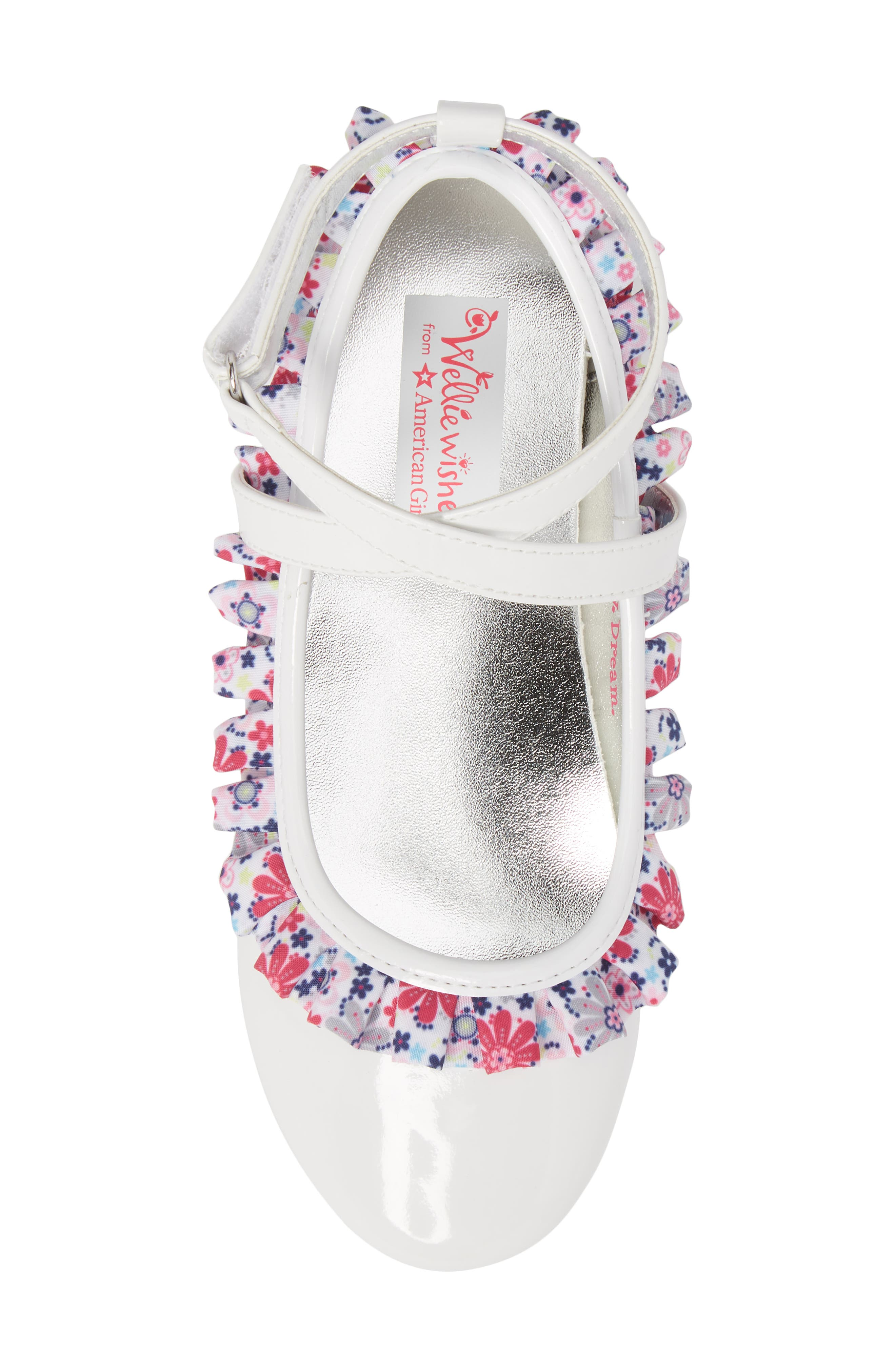Kendall Ruffle Ballet Flat,                             Alternate thumbnail 5, color,                             White