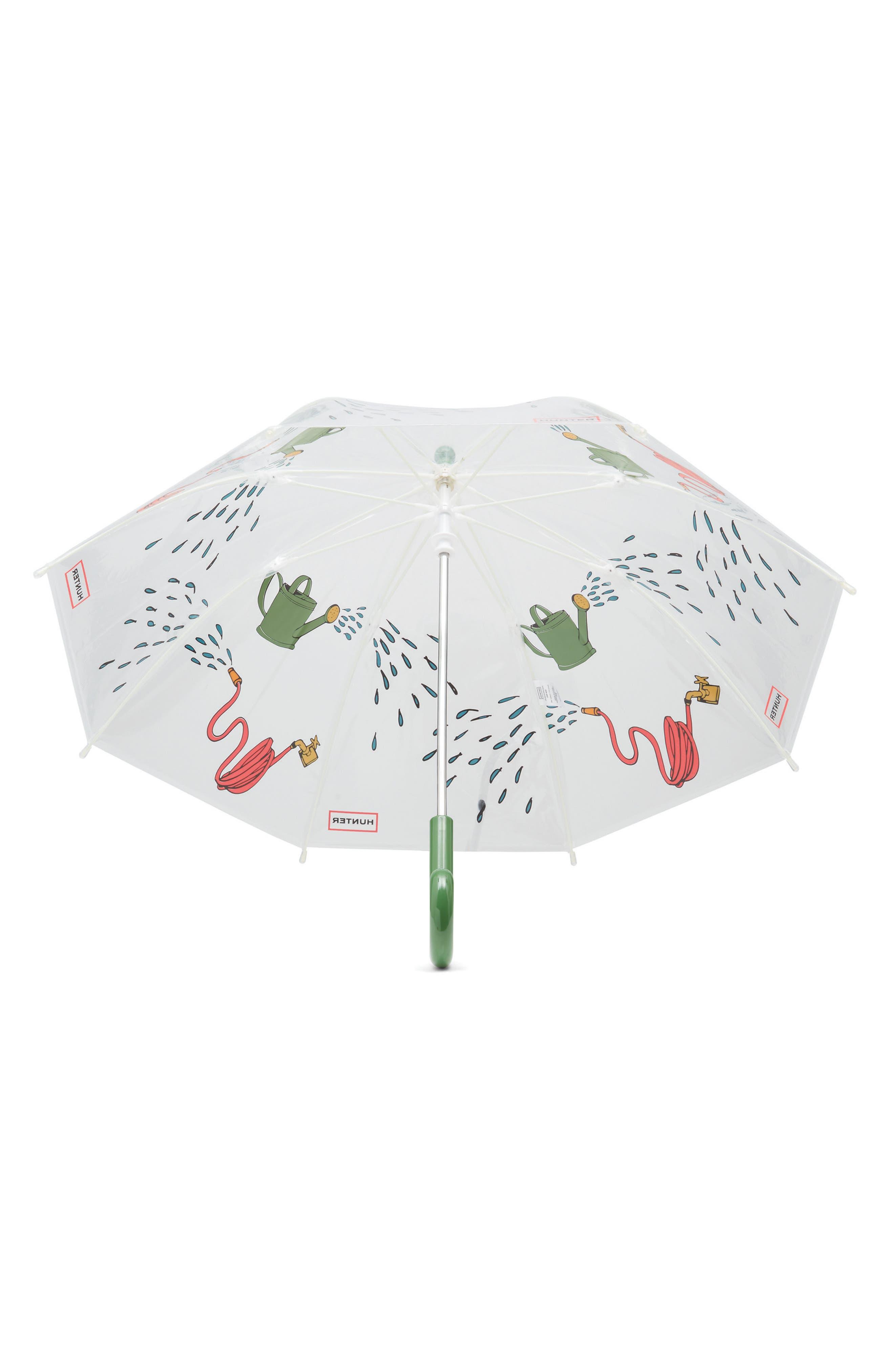 Watering Can Umbrella,                             Alternate thumbnail 3, color,                             Gardening Print