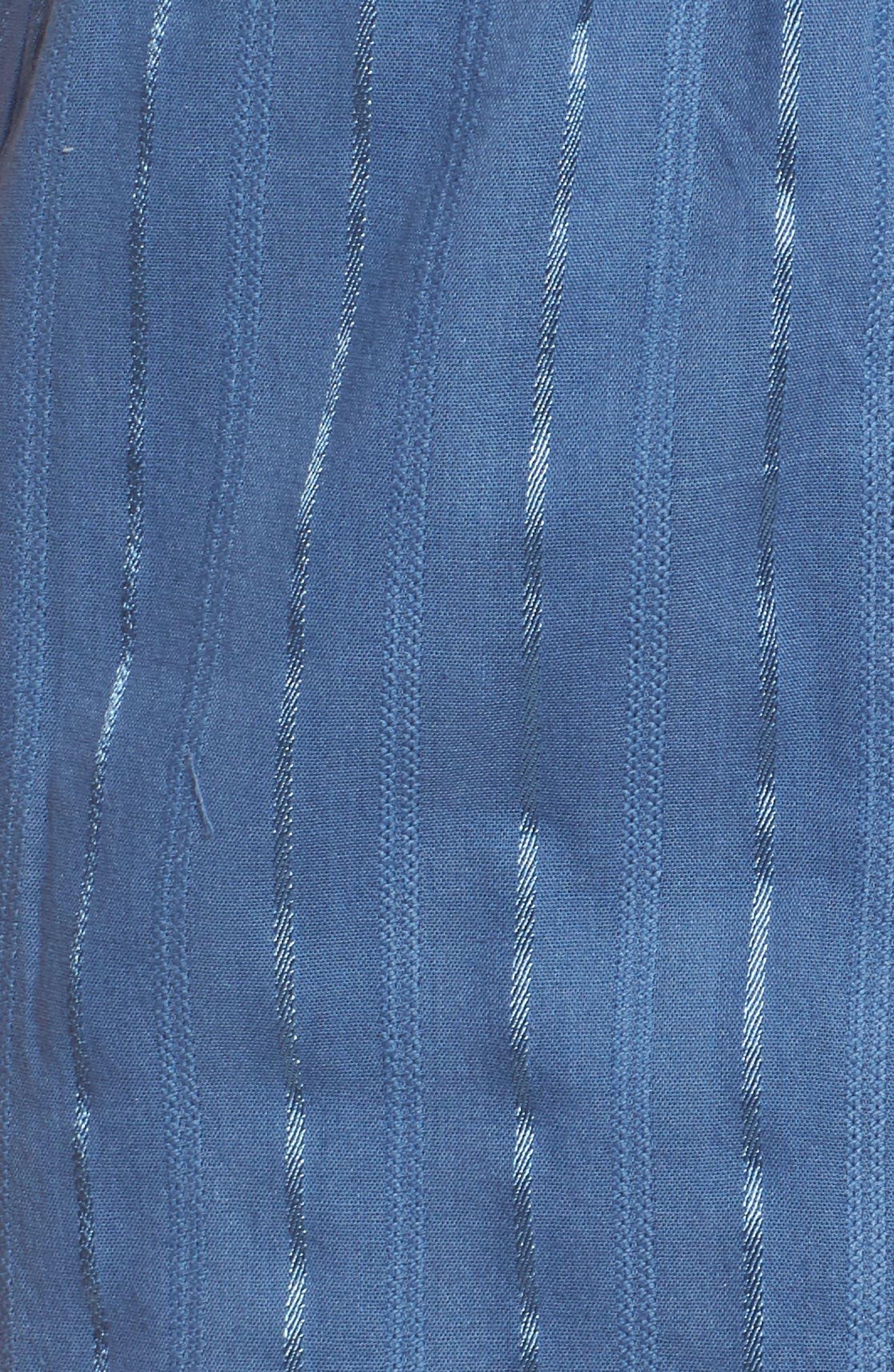 Suri Halter Crop Jumpsuit,                             Alternate thumbnail 6, color,                             Horizon Blue