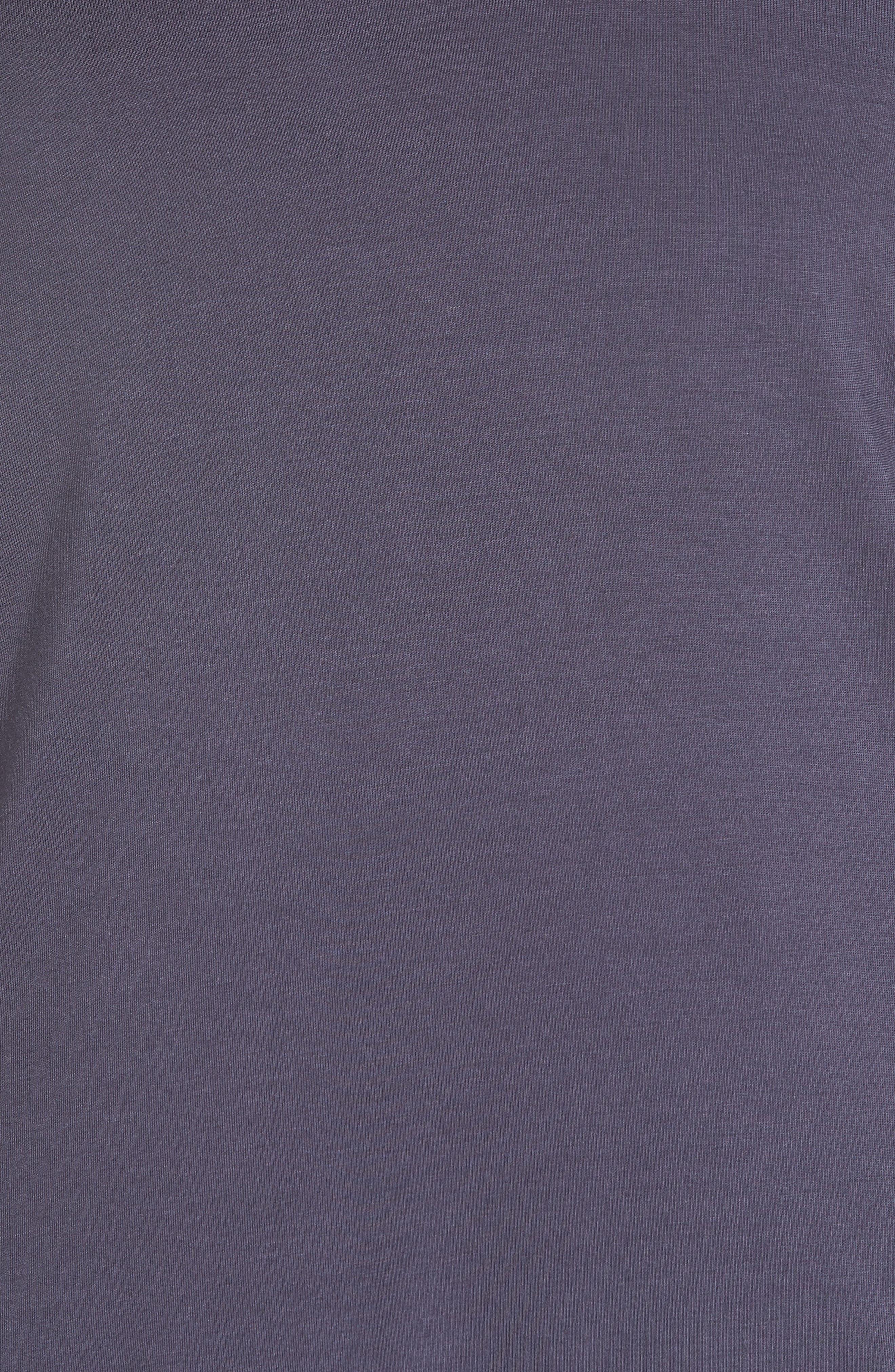 Back Stripe Tee,                             Alternate thumbnail 5, color,                             Charcoal Grey/ White