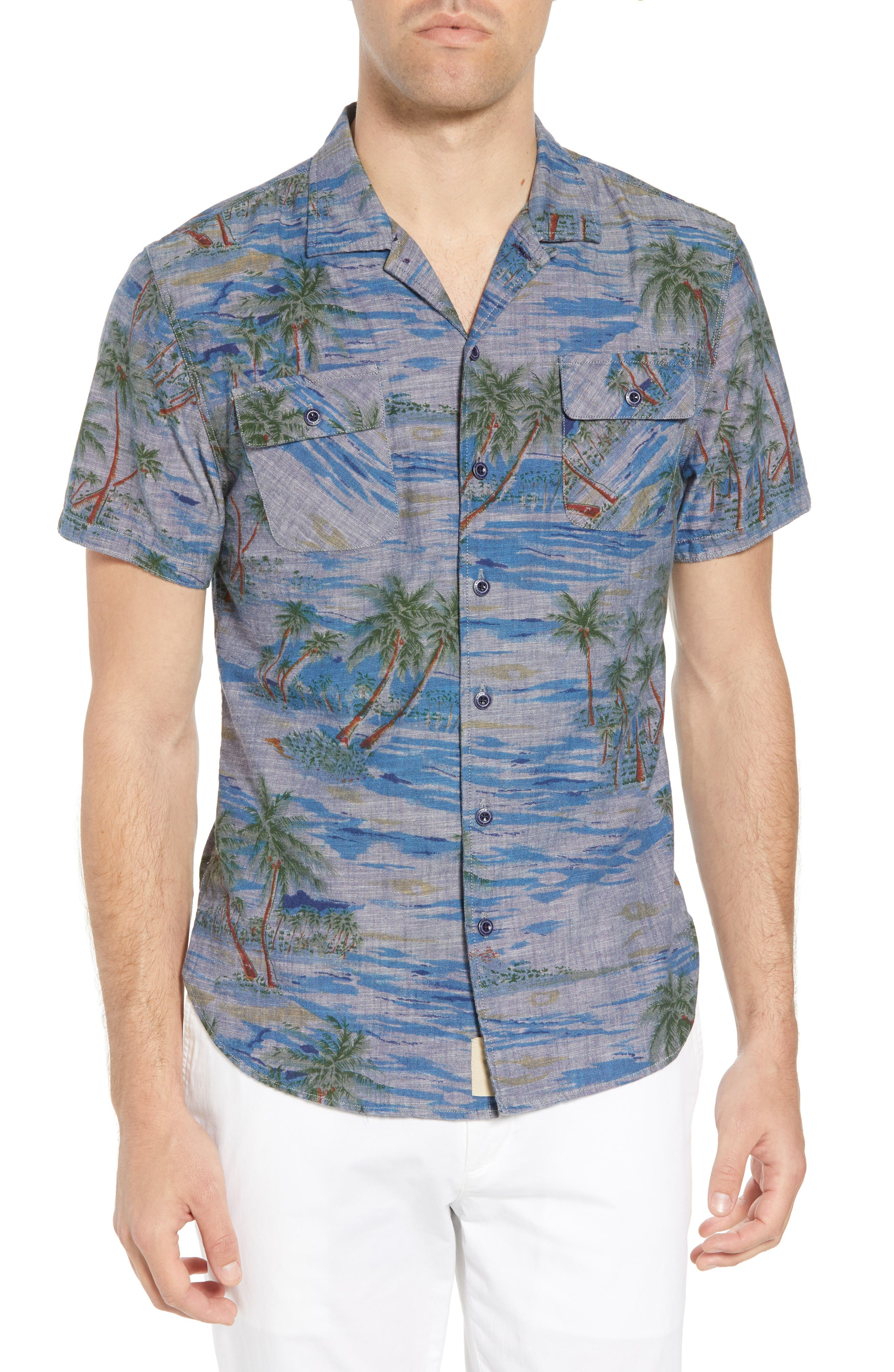 Nifty Genius Truman Slim Fit Camp Shirt