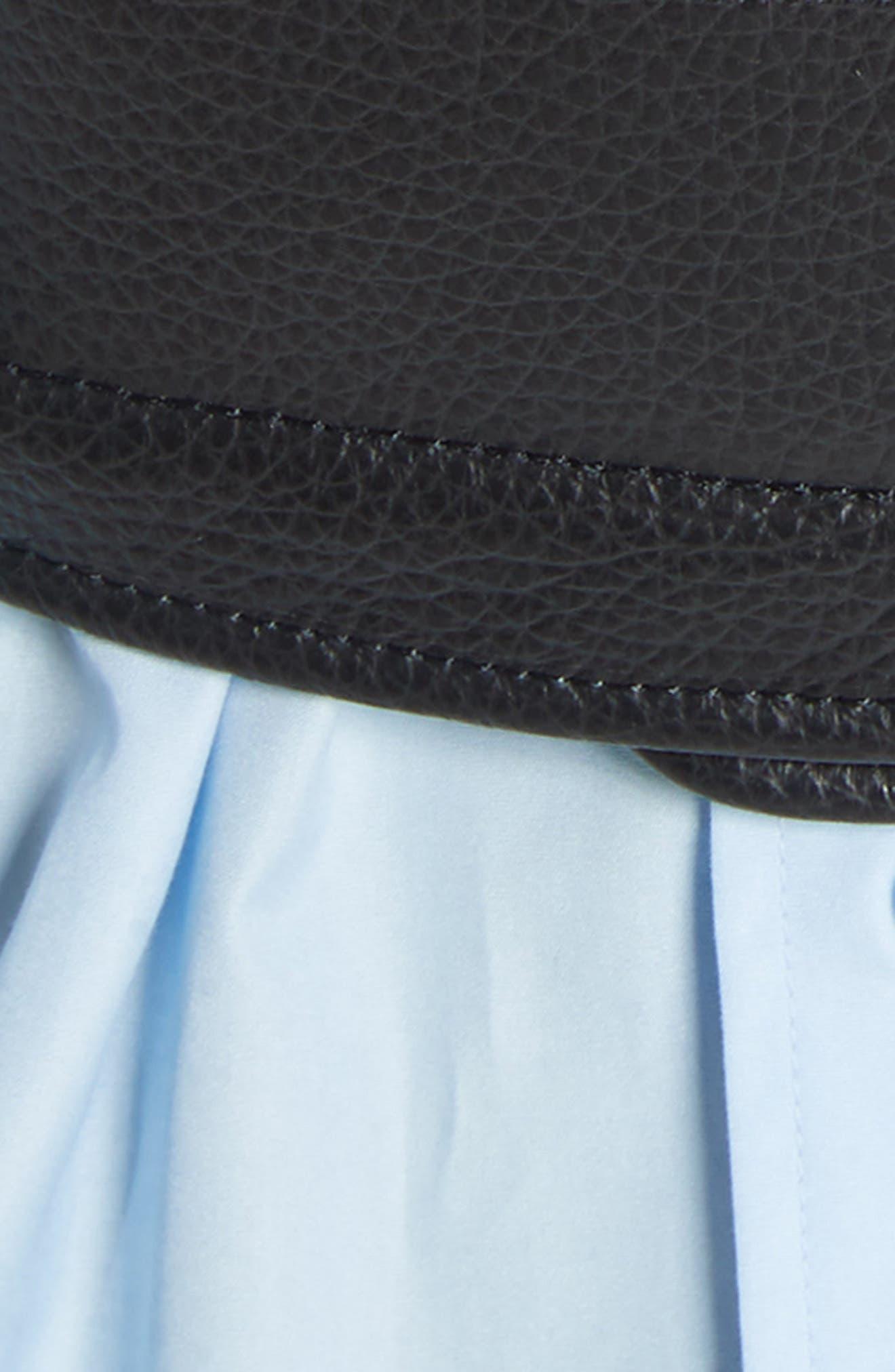 Bustier Shirt,                             Alternate thumbnail 6, color,                             Blue/ Black Bustier