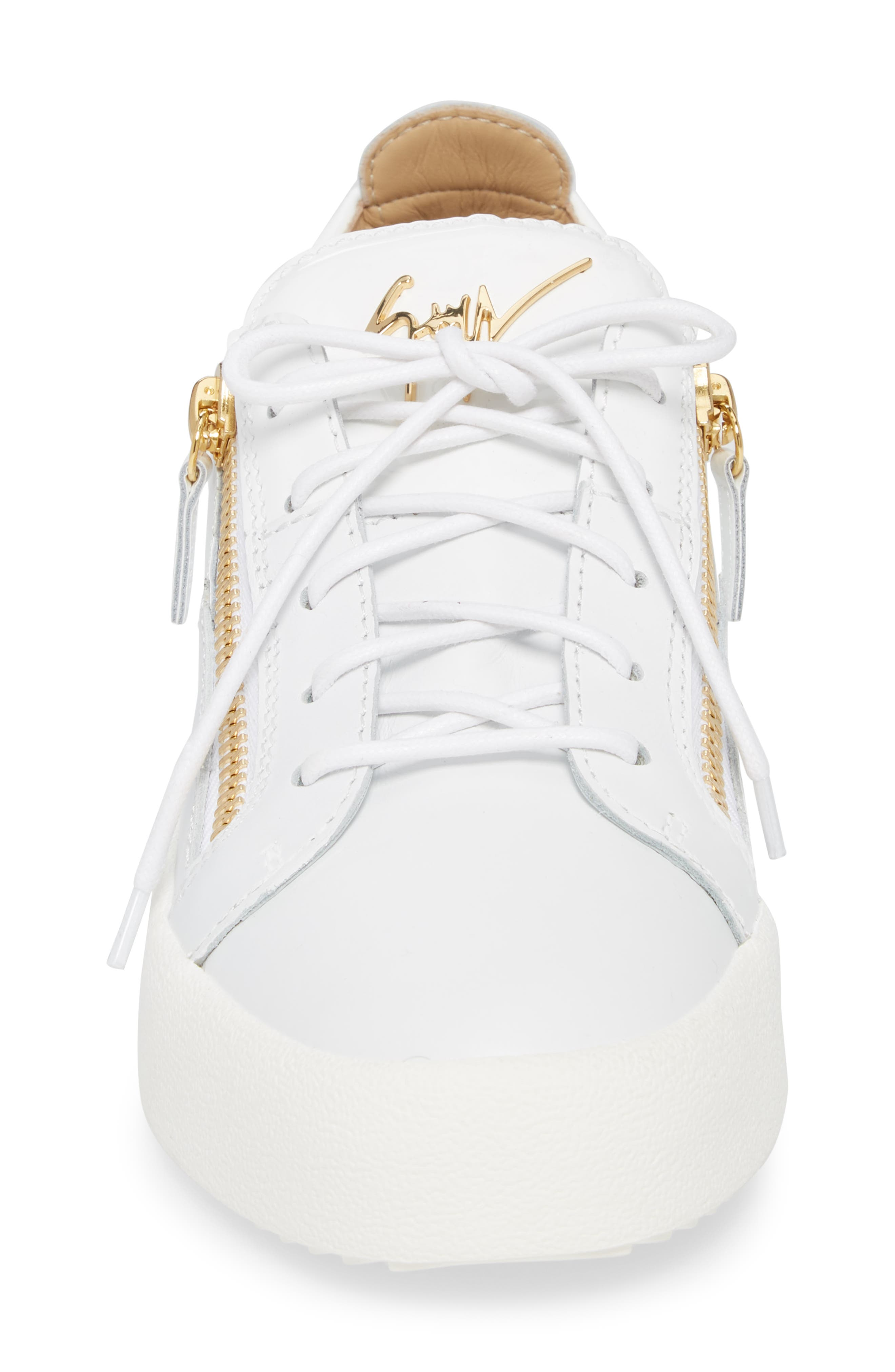 Colorblocked Zip Sneaker,                             Alternate thumbnail 4, color,                             Bianco