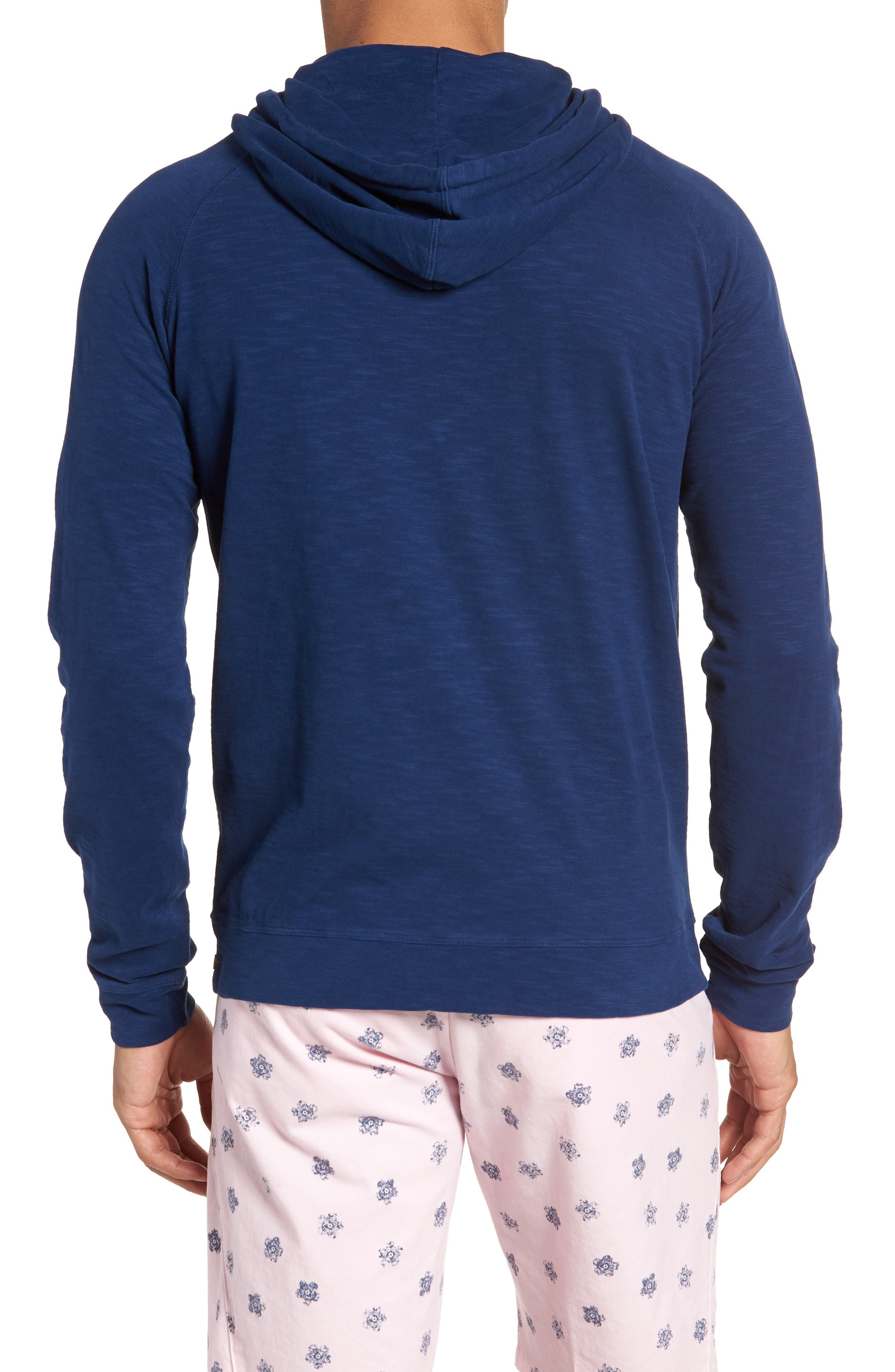 Trim Fit Pullover Hoodie,                             Alternate thumbnail 2, color,                             Blue