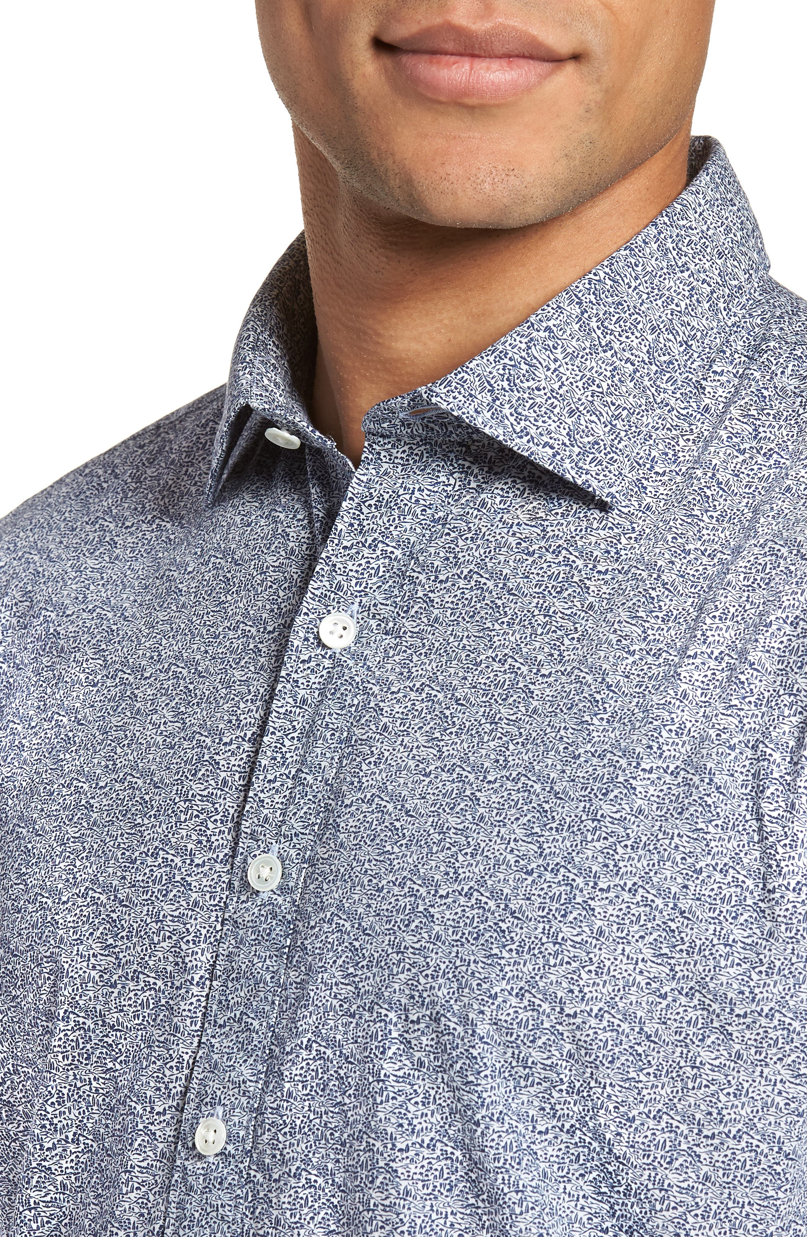Massey West Slim Fit Sport Shirt,                             Alternate thumbnail 2, color,                             Ink