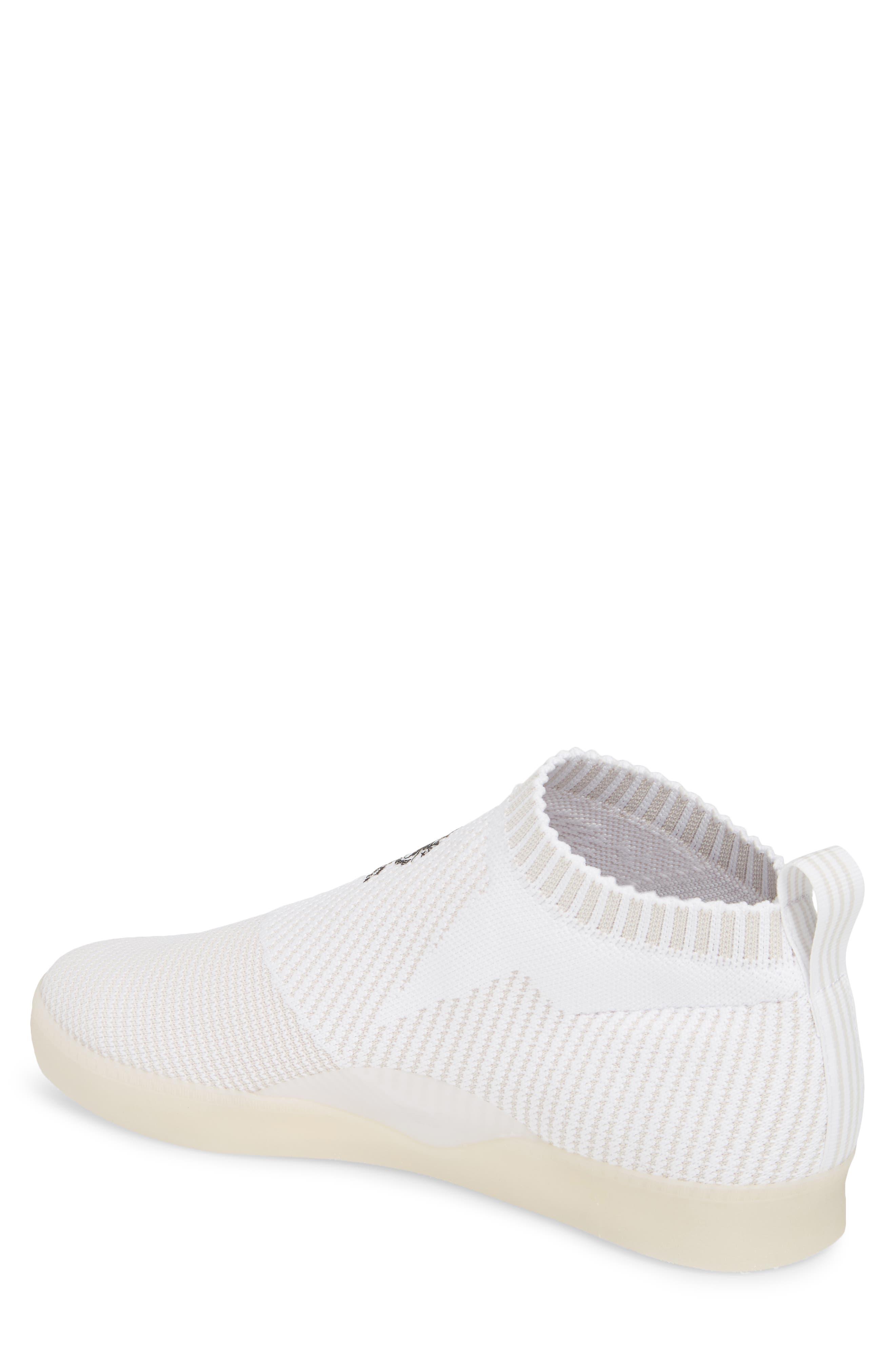 3ST.002 Primeknit Skateboarding Shoe,                             Alternate thumbnail 2, color,                             White / Grey/ Black