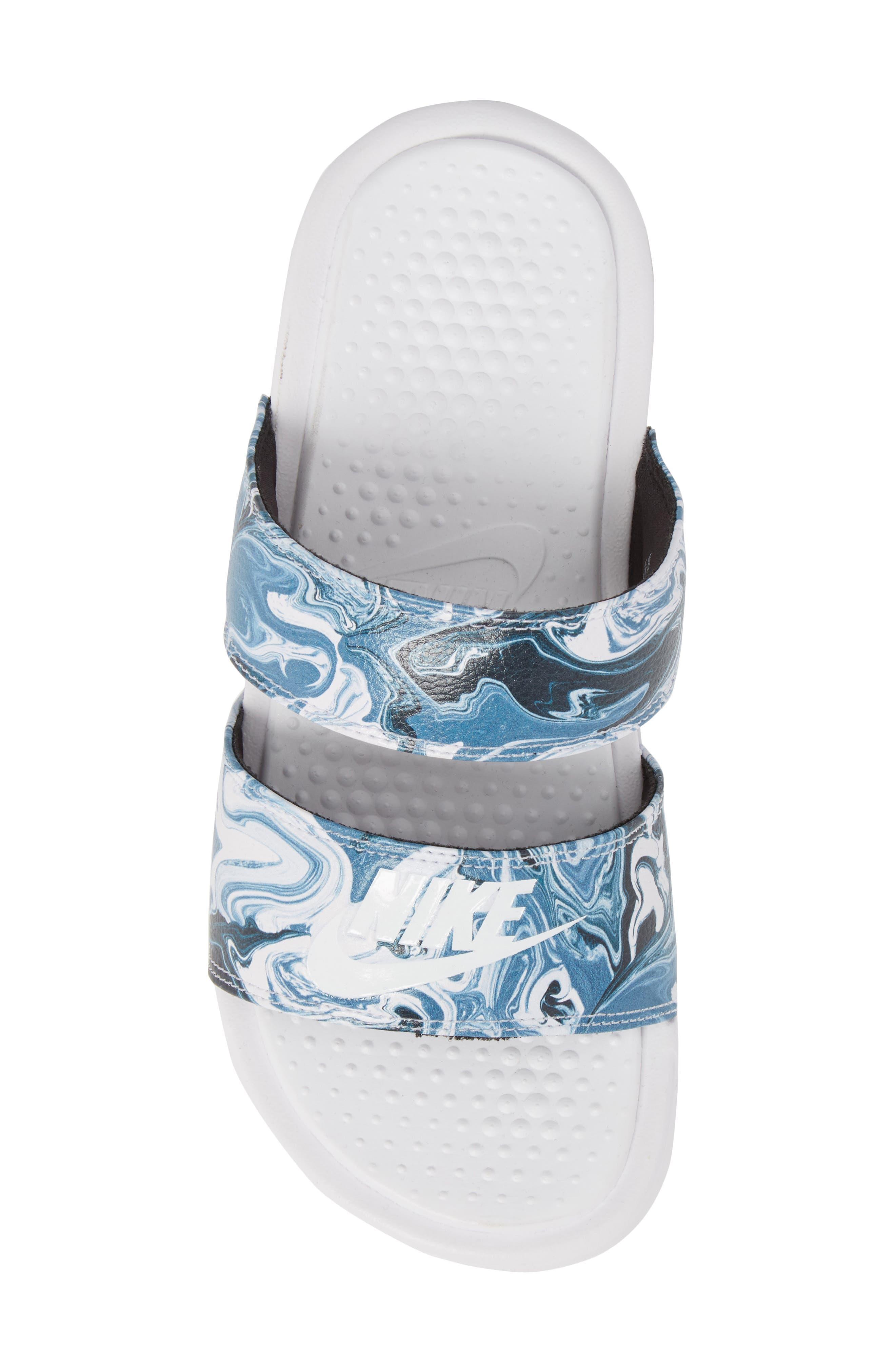 Benassi Duo Ultra Slide Sandal,                             Alternate thumbnail 5, color,                             Black/ White