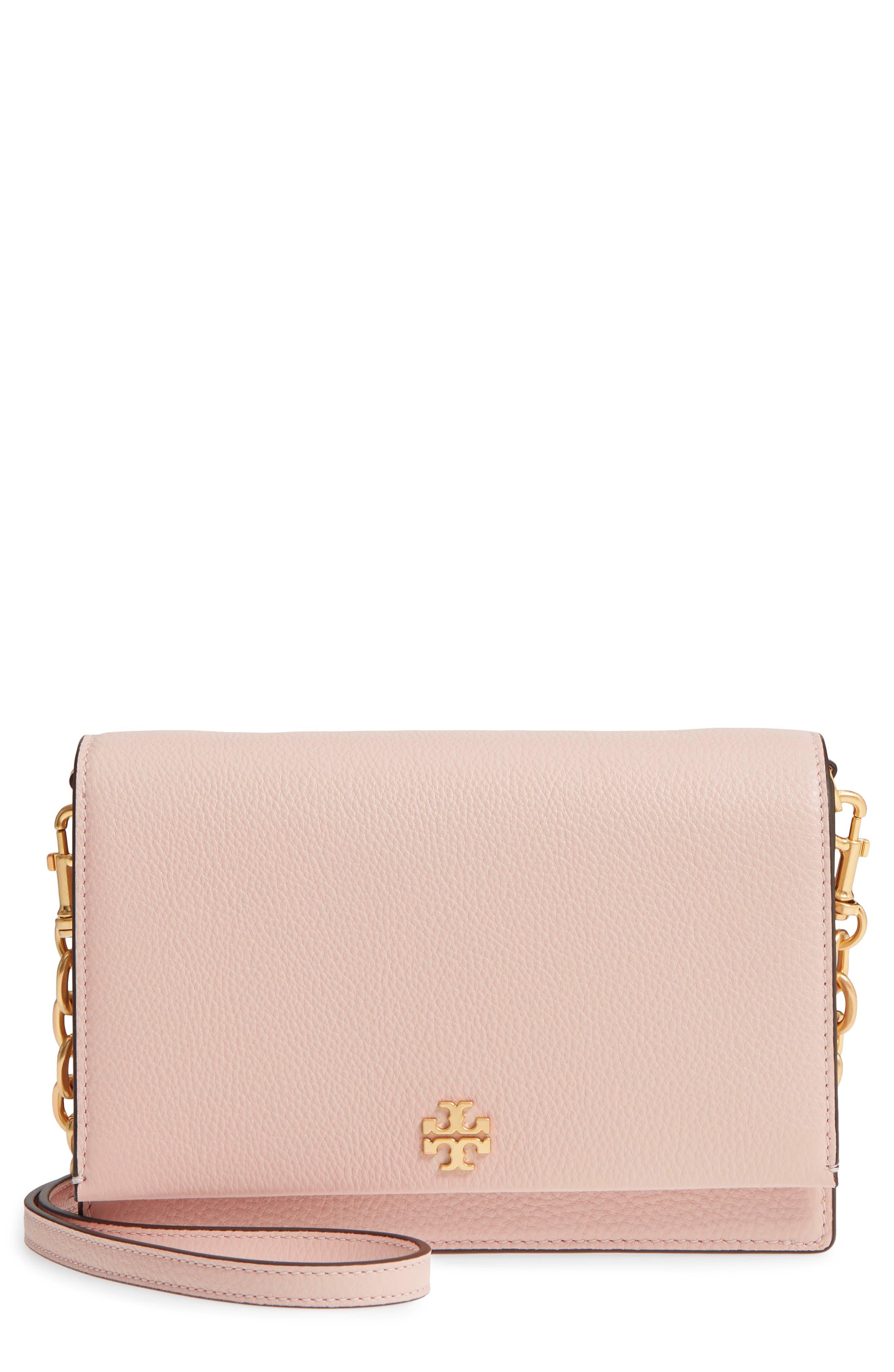 Georgia Pebble Leather Shoulder Bag,                         Main,                         color, Shell Pink