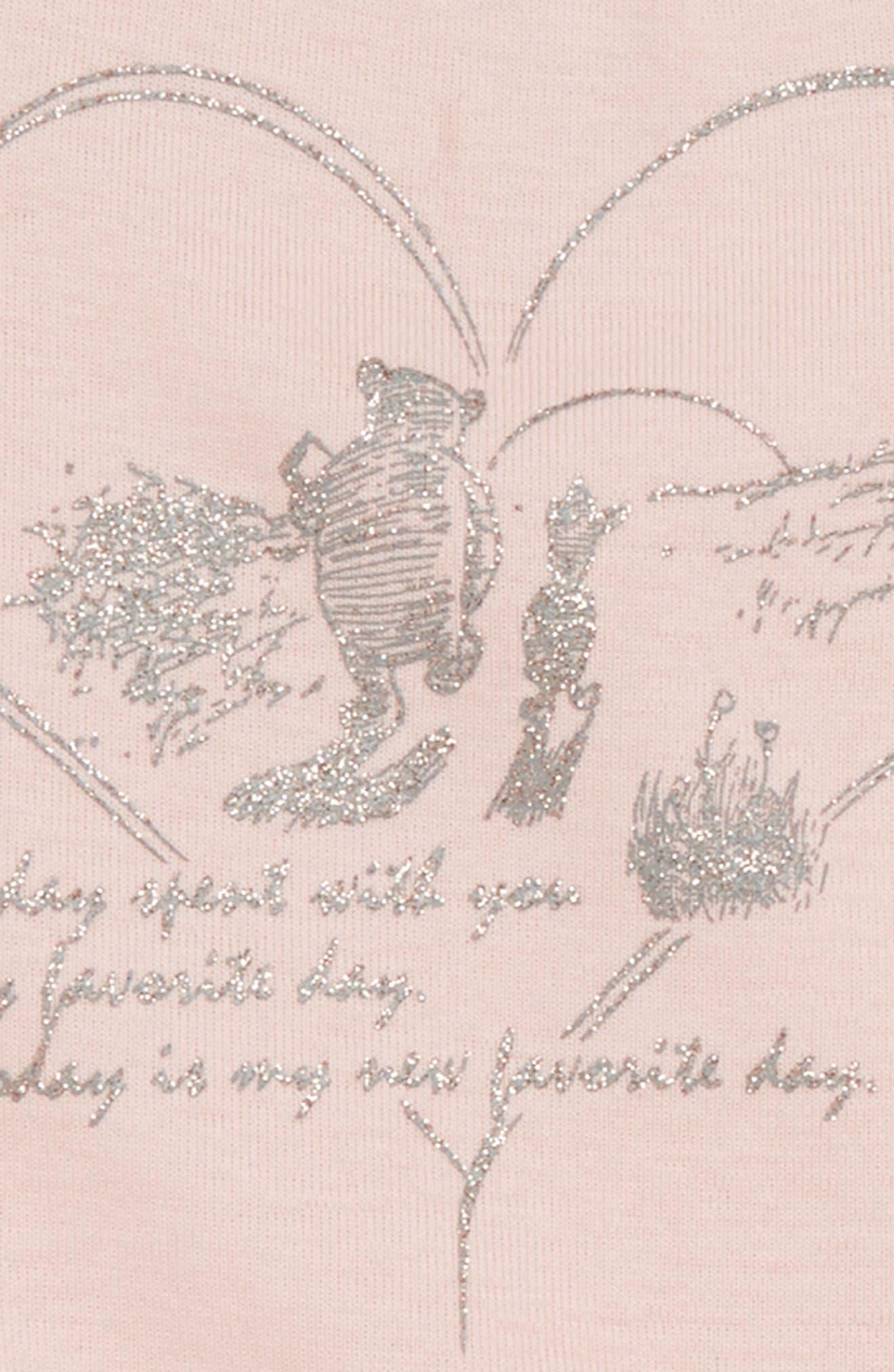 x Disney<sup>®</sup> Winnie the Pooh Organic Cotton Bodysuit,                             Alternate thumbnail 2, color,                             Powder