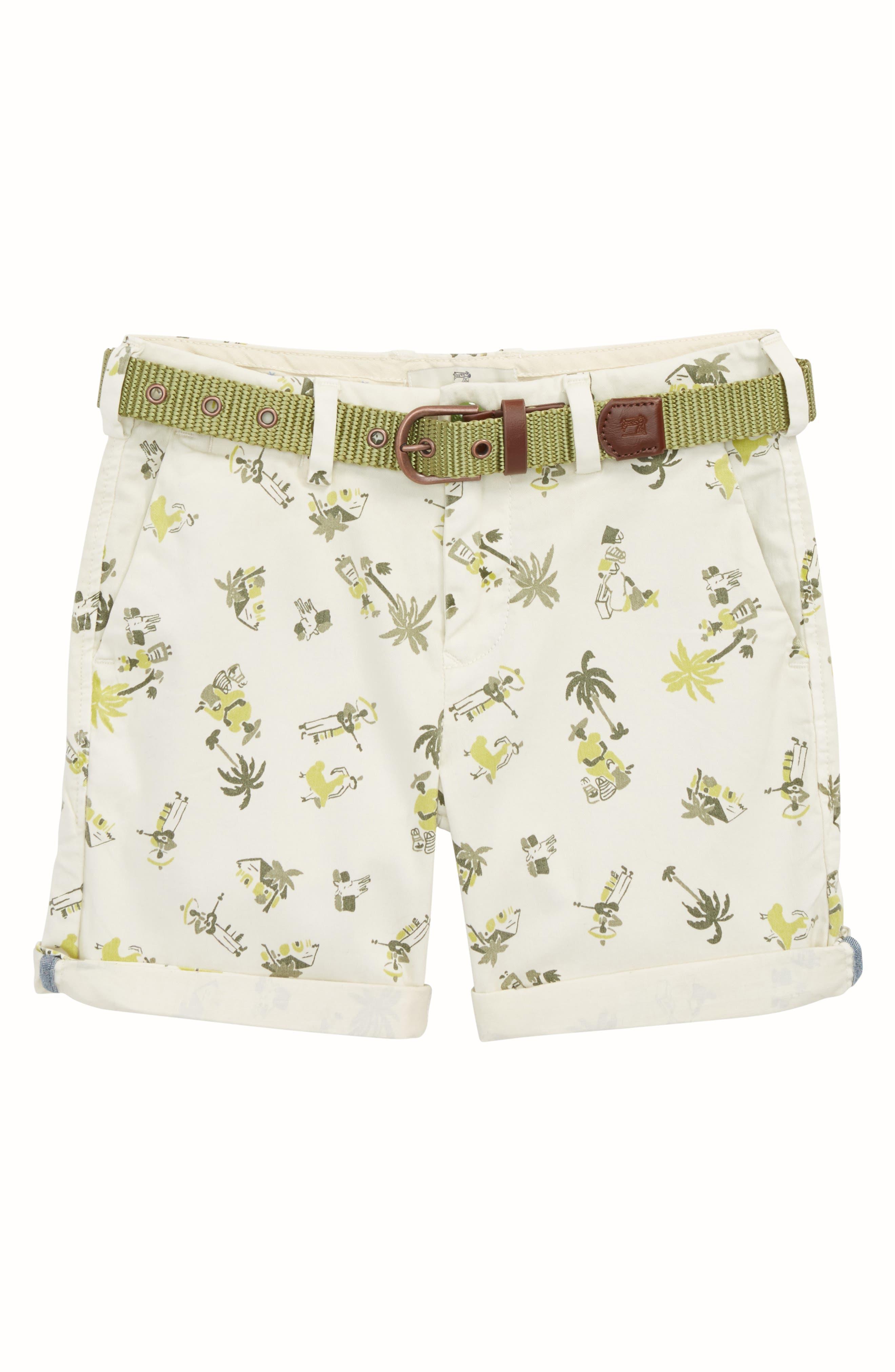 Tropical Chino Shorts,                             Main thumbnail 1, color,                             Ecru